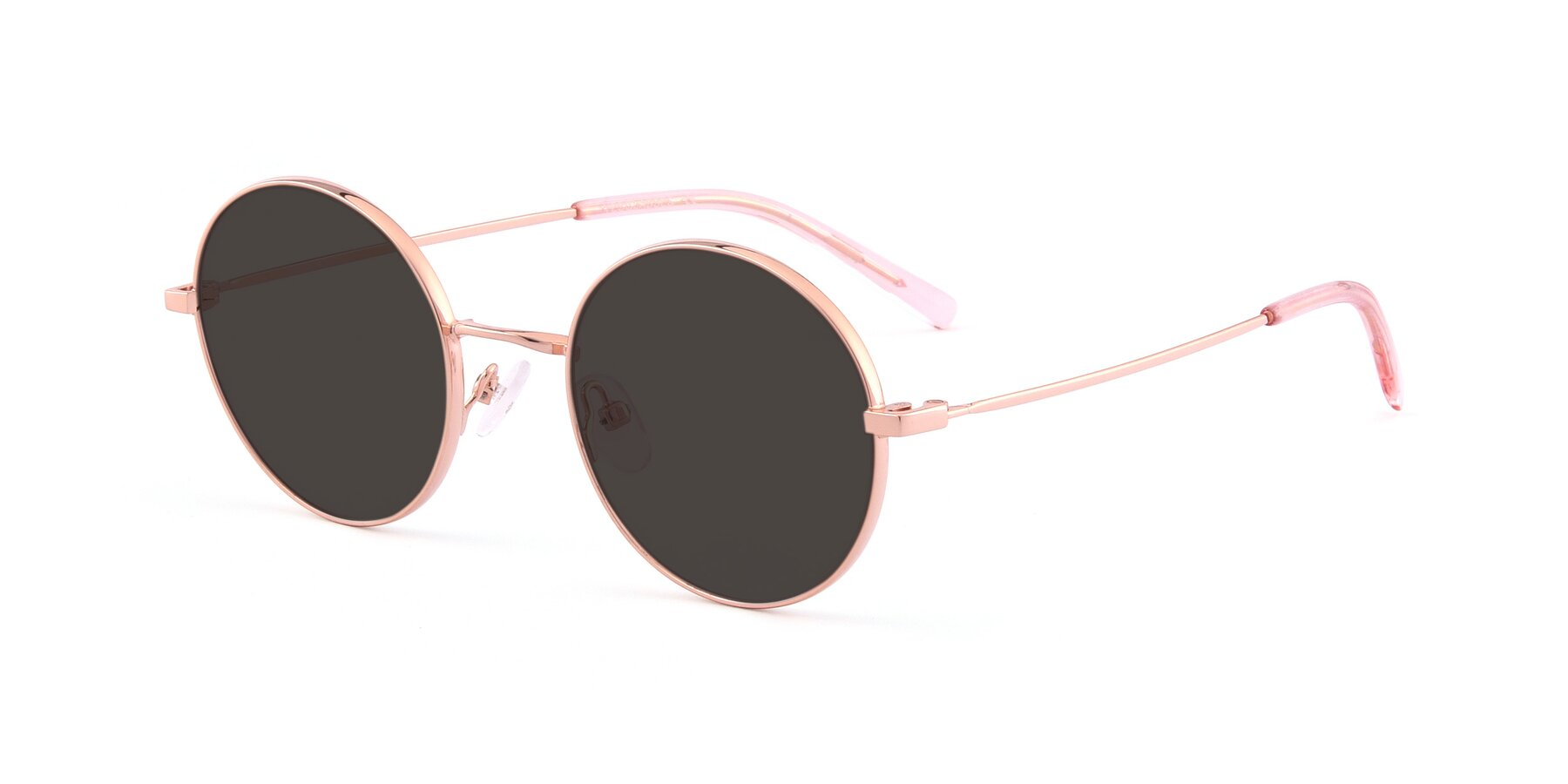 Angle of Moore in Rose Gold with Gray Tinted Lenses