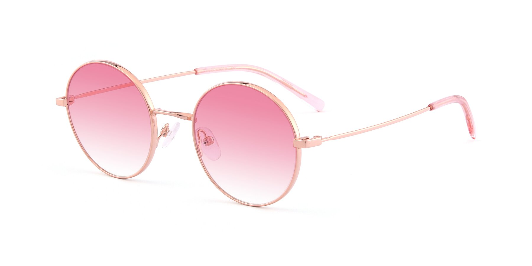 Angle of Moore in Rose Gold with Pink Gradient Lenses