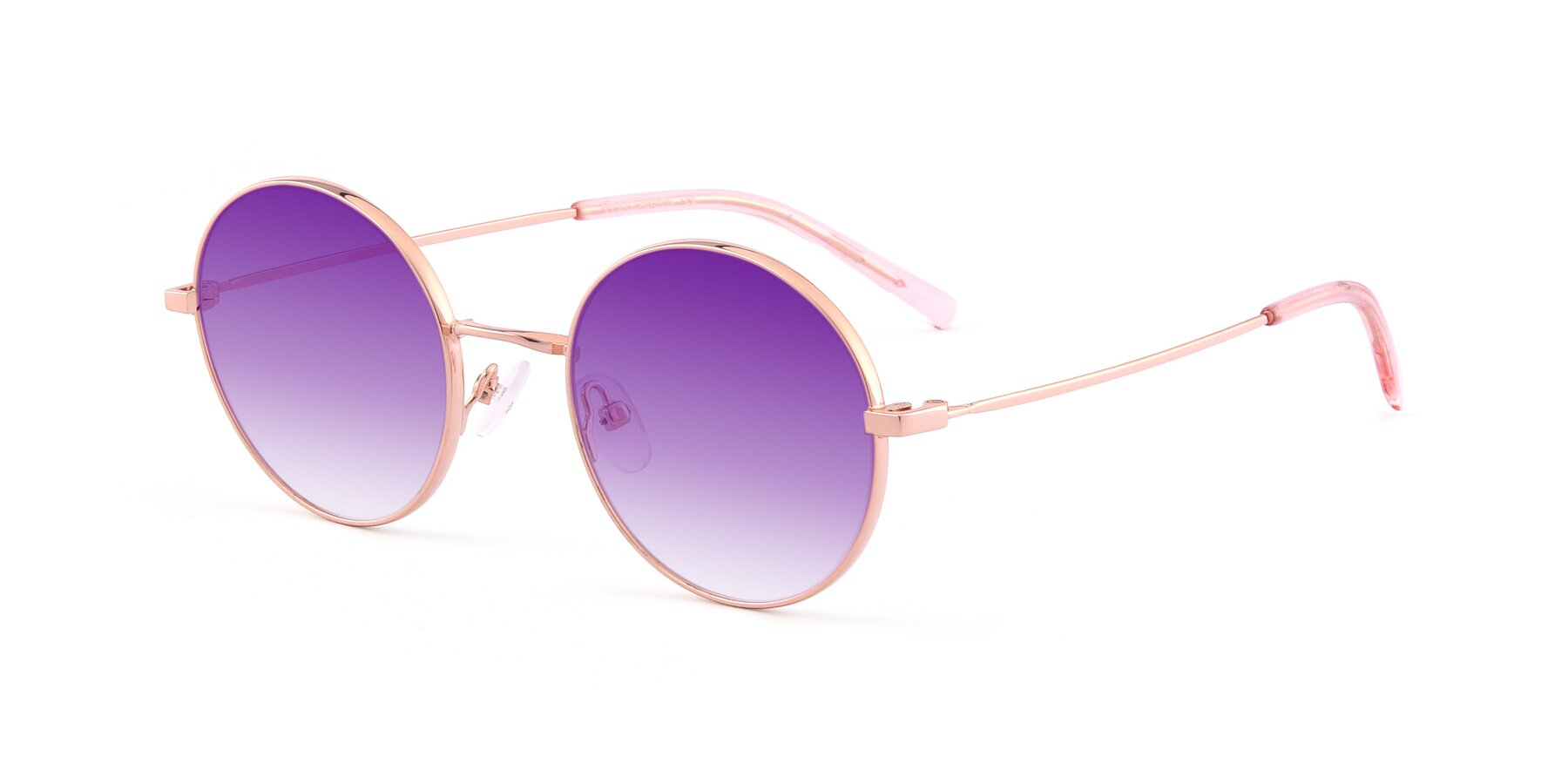 Angle of Moore in Rose Gold with Purple Gradient Lenses