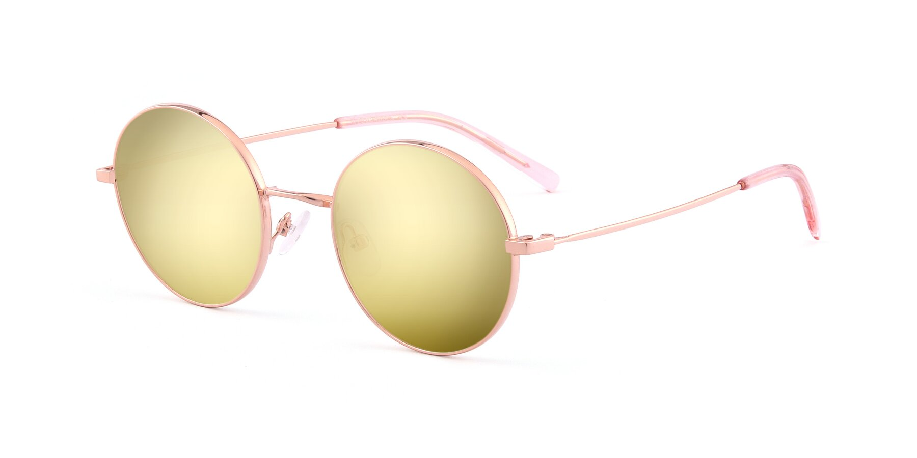 Angle of Moore in Rose Gold with Gold Mirrored Lenses