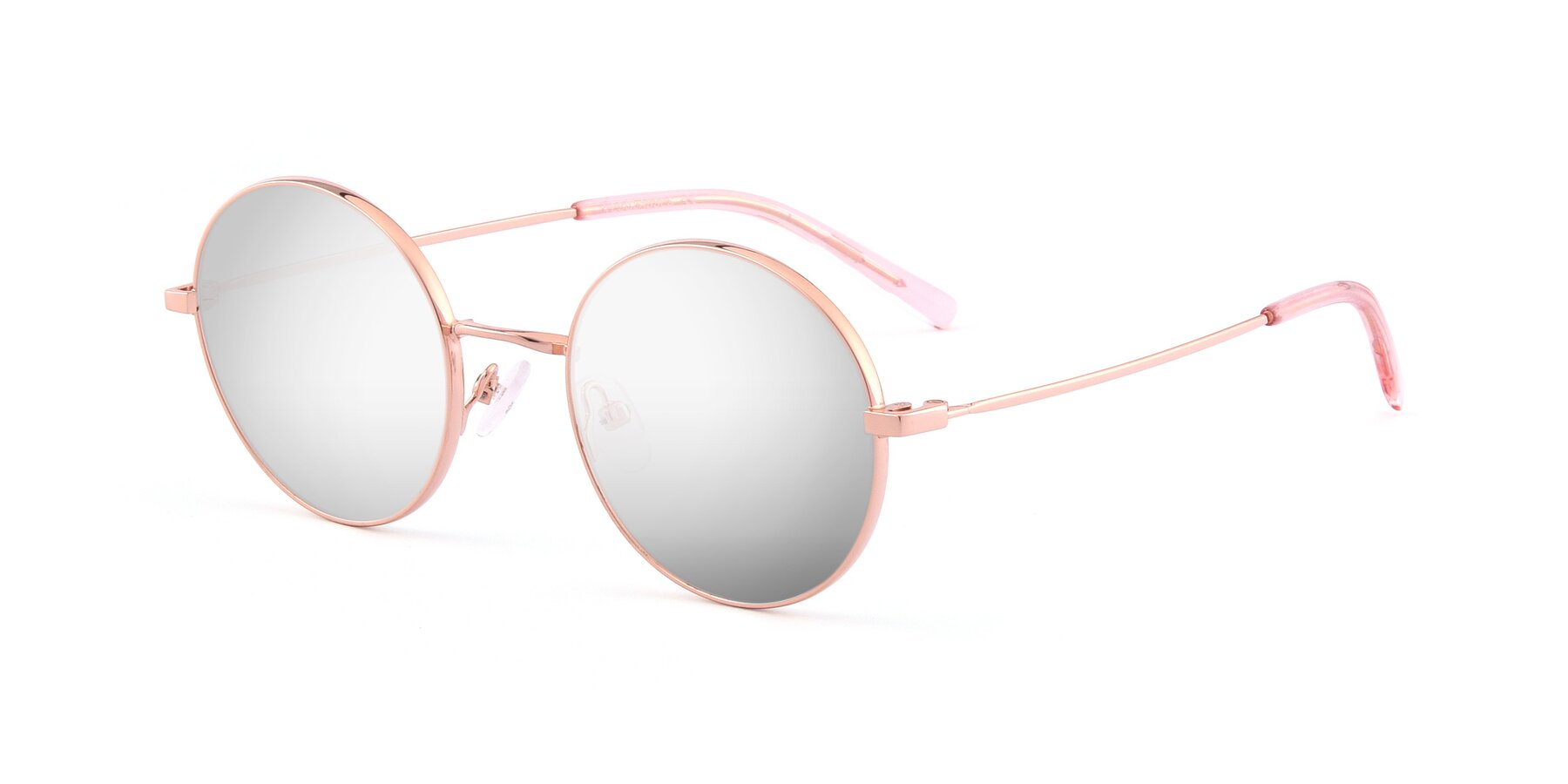 Angle of Moore in Rose Gold with Silver Mirrored Lenses