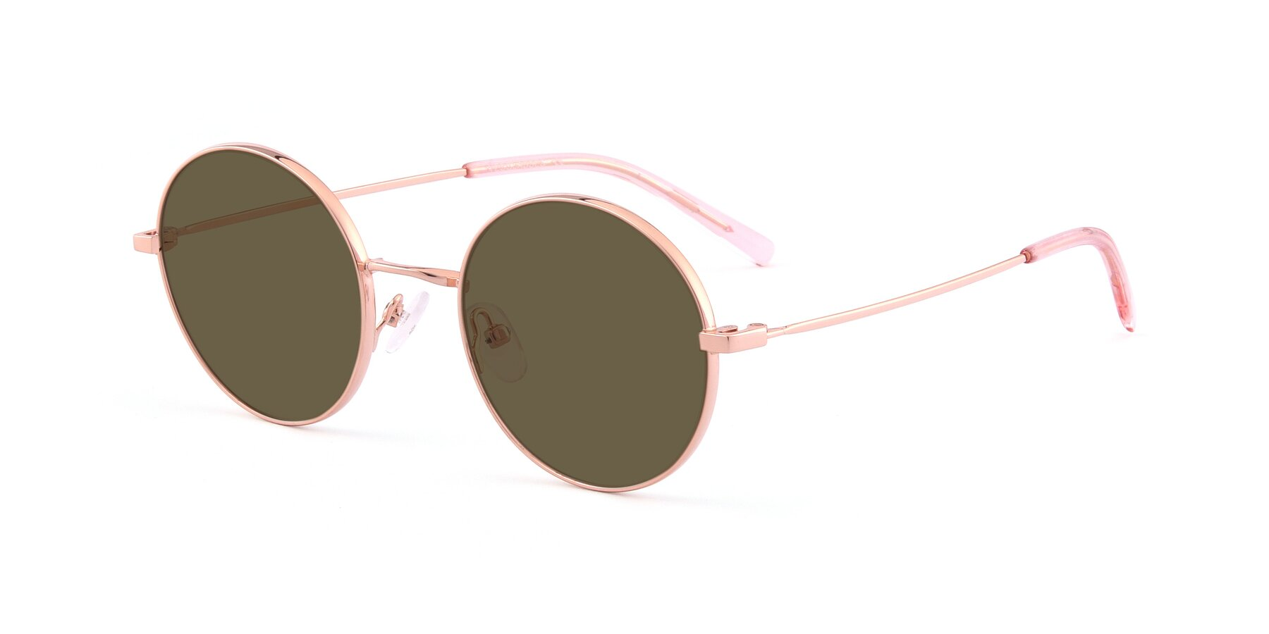 Angle of Moore in Rose Gold with Brown Polarized Lenses