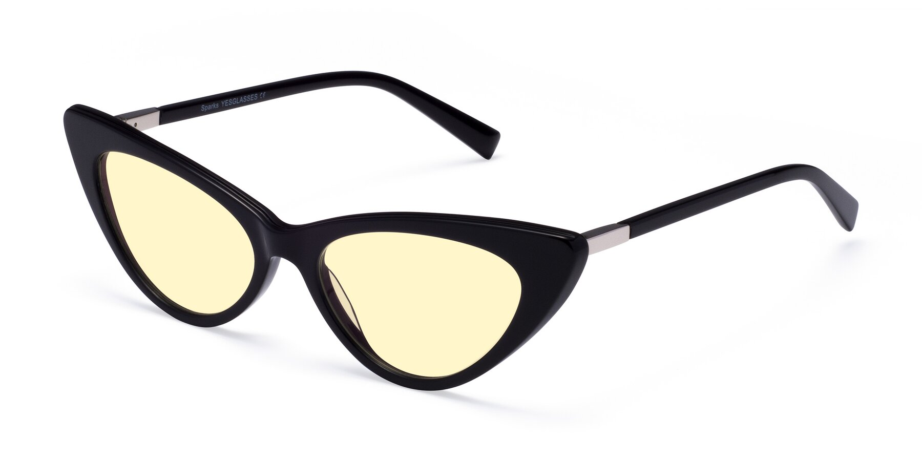 Angle of Sparks in Black with Light Yellow Tinted Lenses
