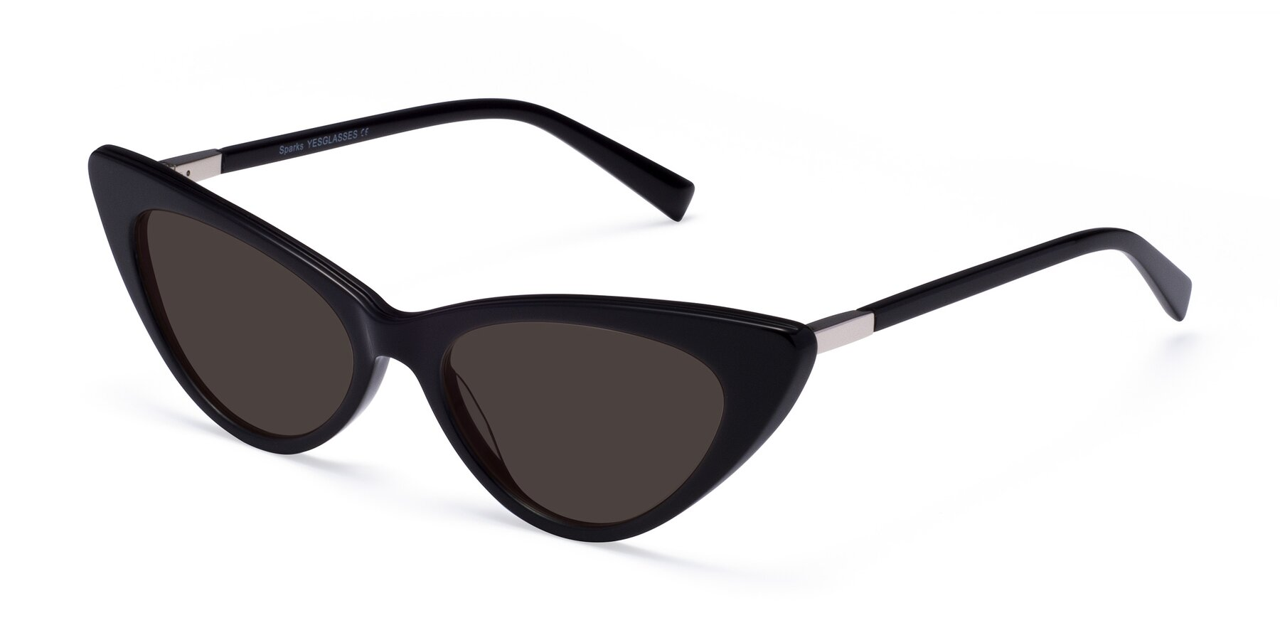Angle of Sparks in Black with Gray Tinted Lenses