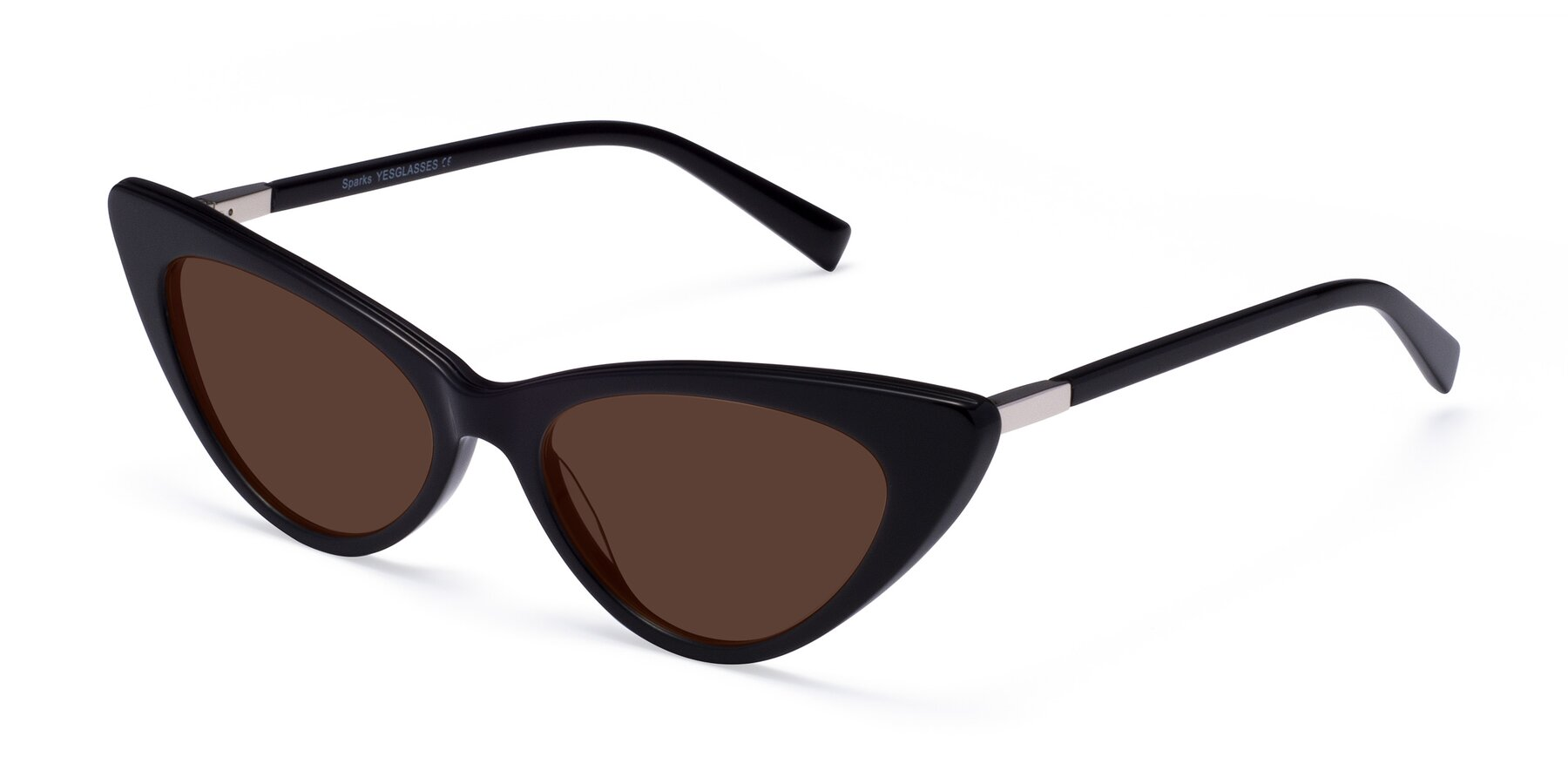 Angle of Sparks in Black with Brown Tinted Lenses