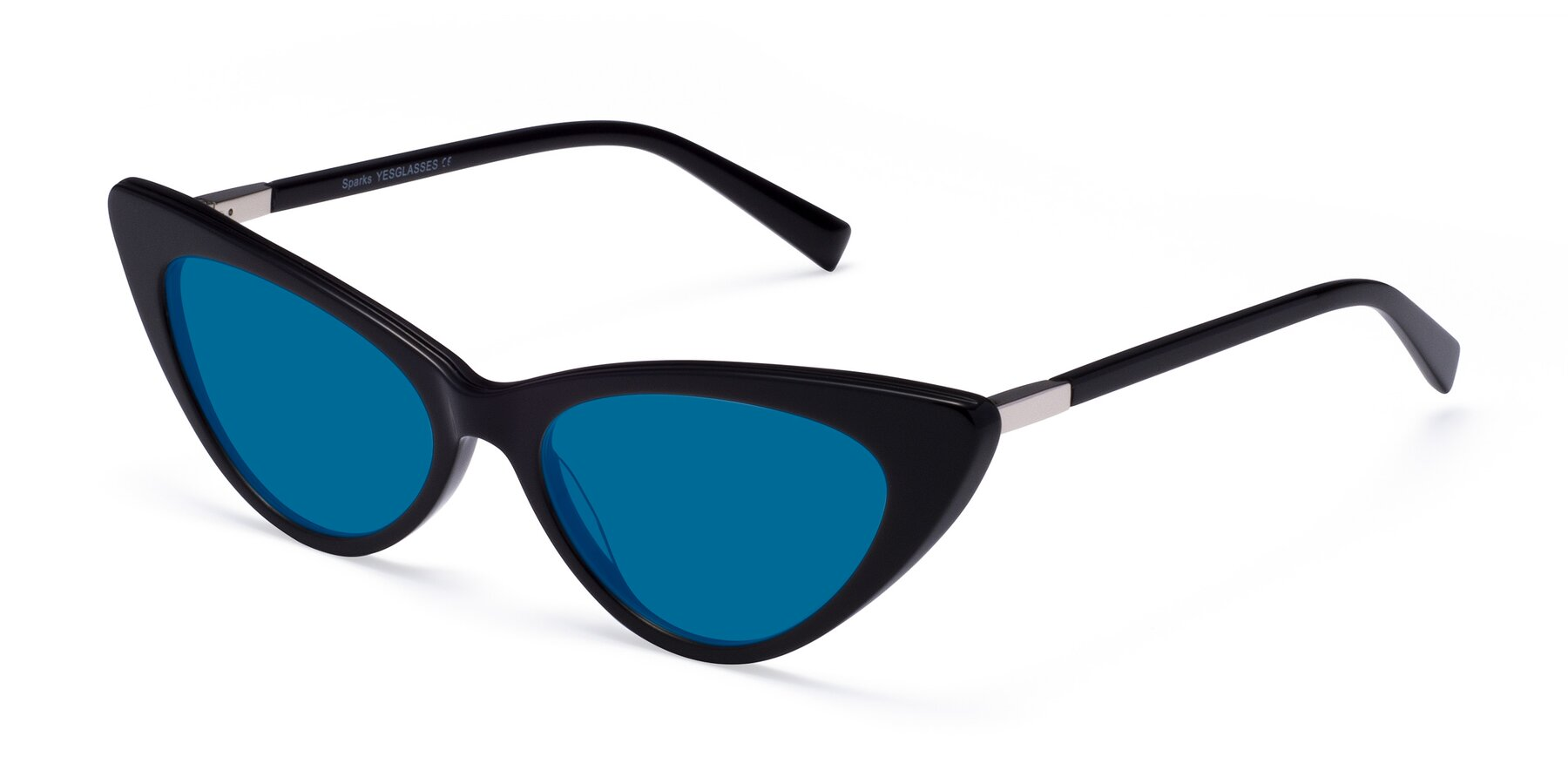 Angle of Sparks in Black with Blue Tinted Lenses