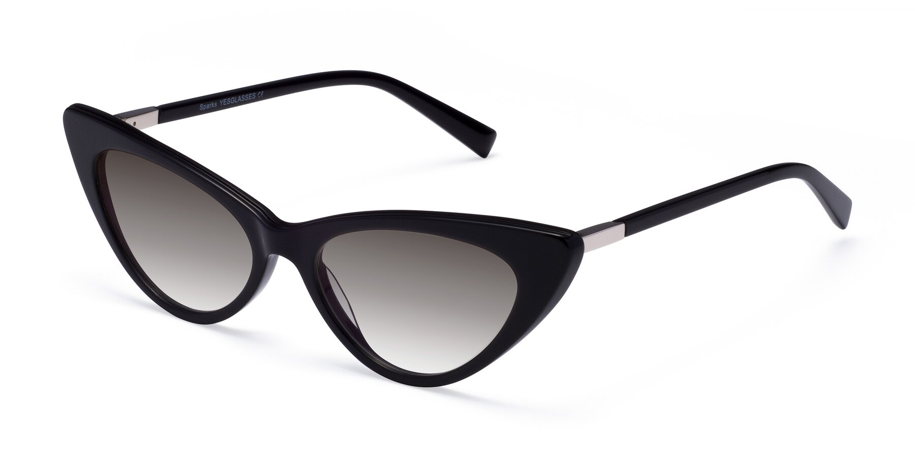 Angle of Sparks in Black with Gray Gradient Lenses