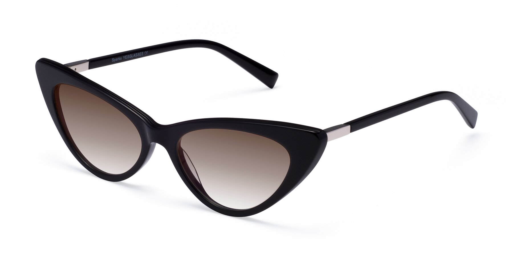 Angle of Sparks in Black with Brown Gradient Lenses