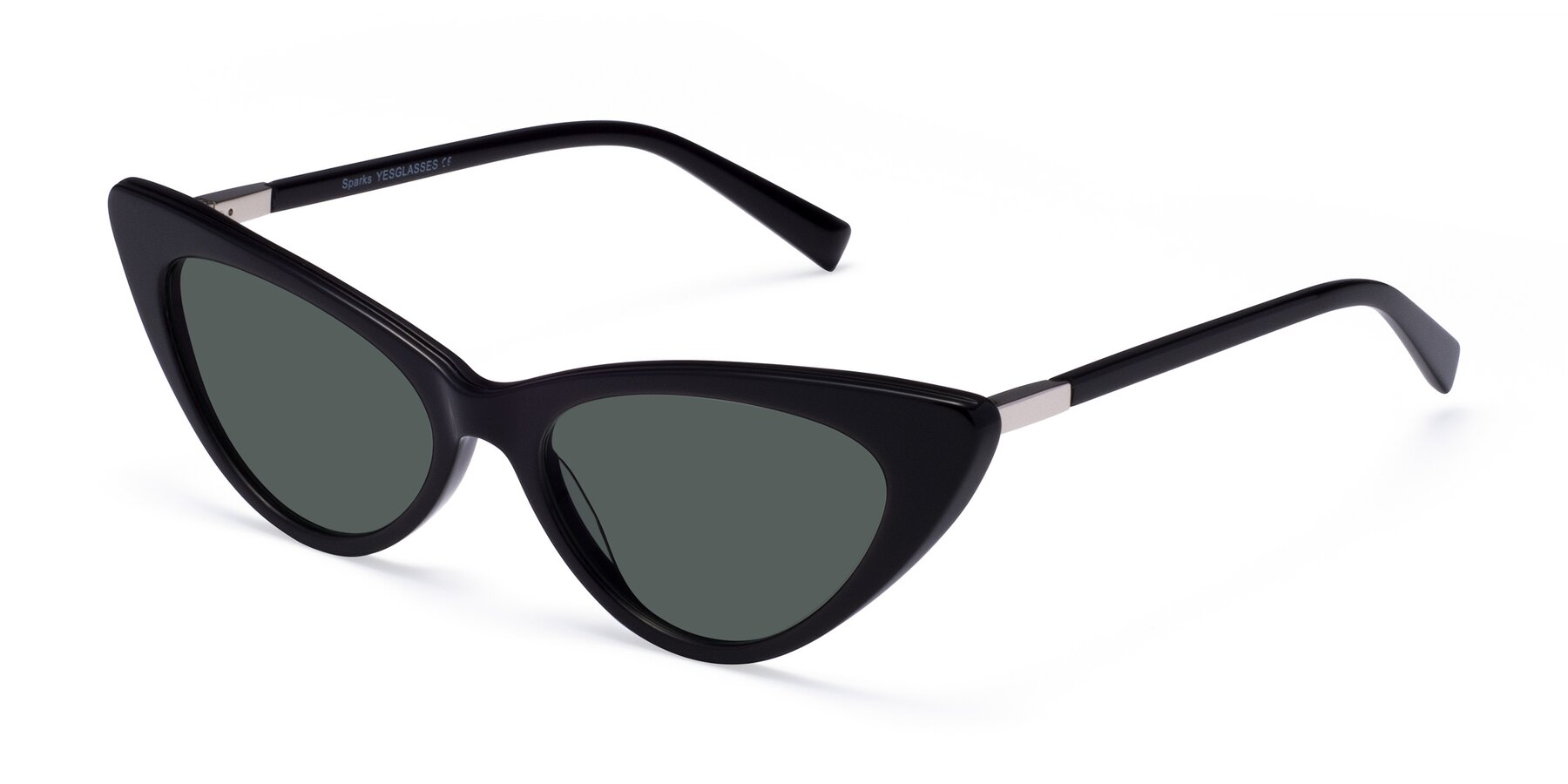 Angle of Sparks in Black with Gray Polarized Lenses