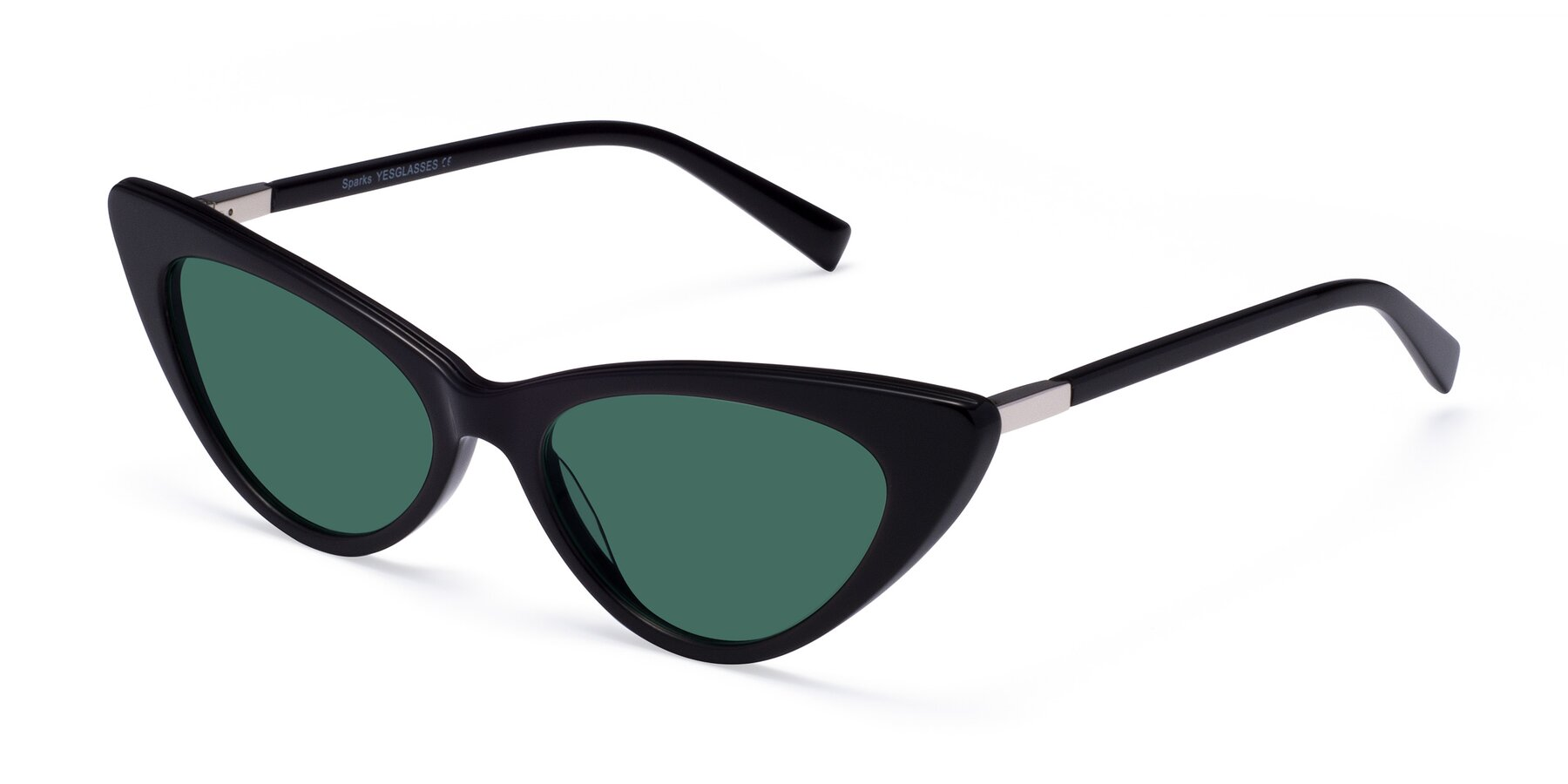 Angle of Sparks in Black with Green Polarized Lenses