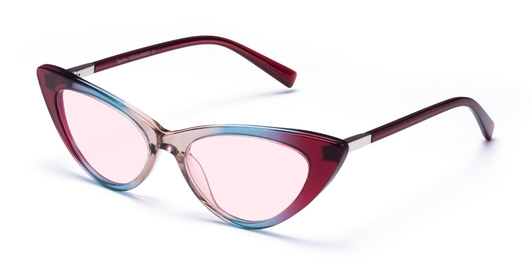 Angle of Sparks in Transparent Gradient Purple with Light Pink Tinted Lenses