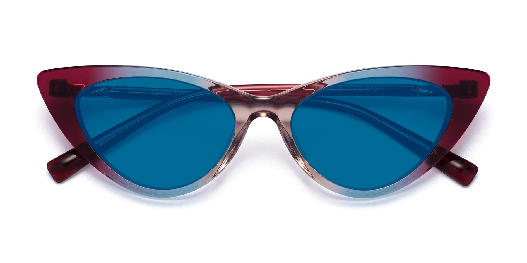 Folded Front of Sparks in Transparent Gradient Purple with Blue Tinted Lenses