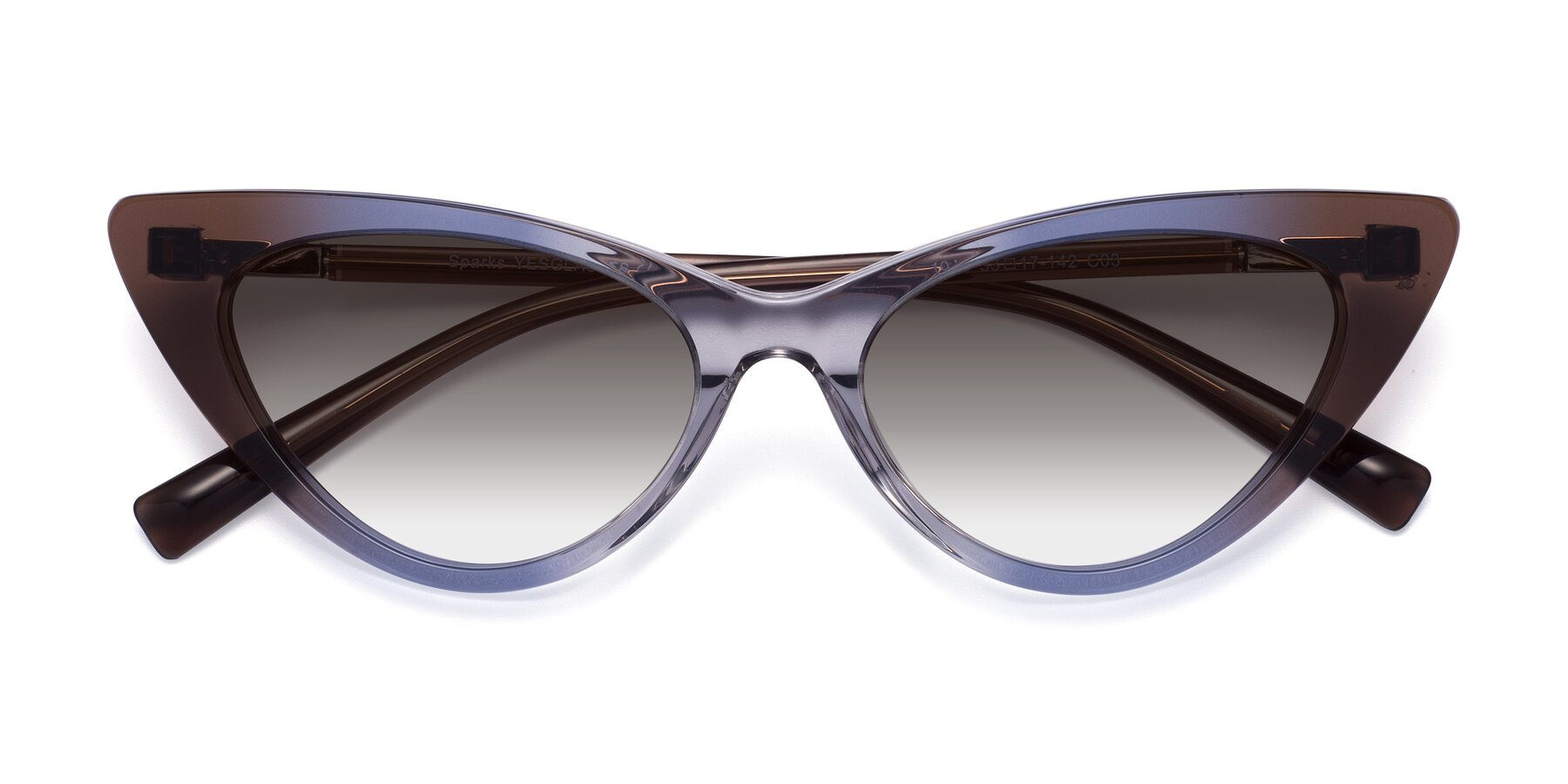 Folded Front of Sparks in Transparent Gradient Brown with Gray Gradient Lenses