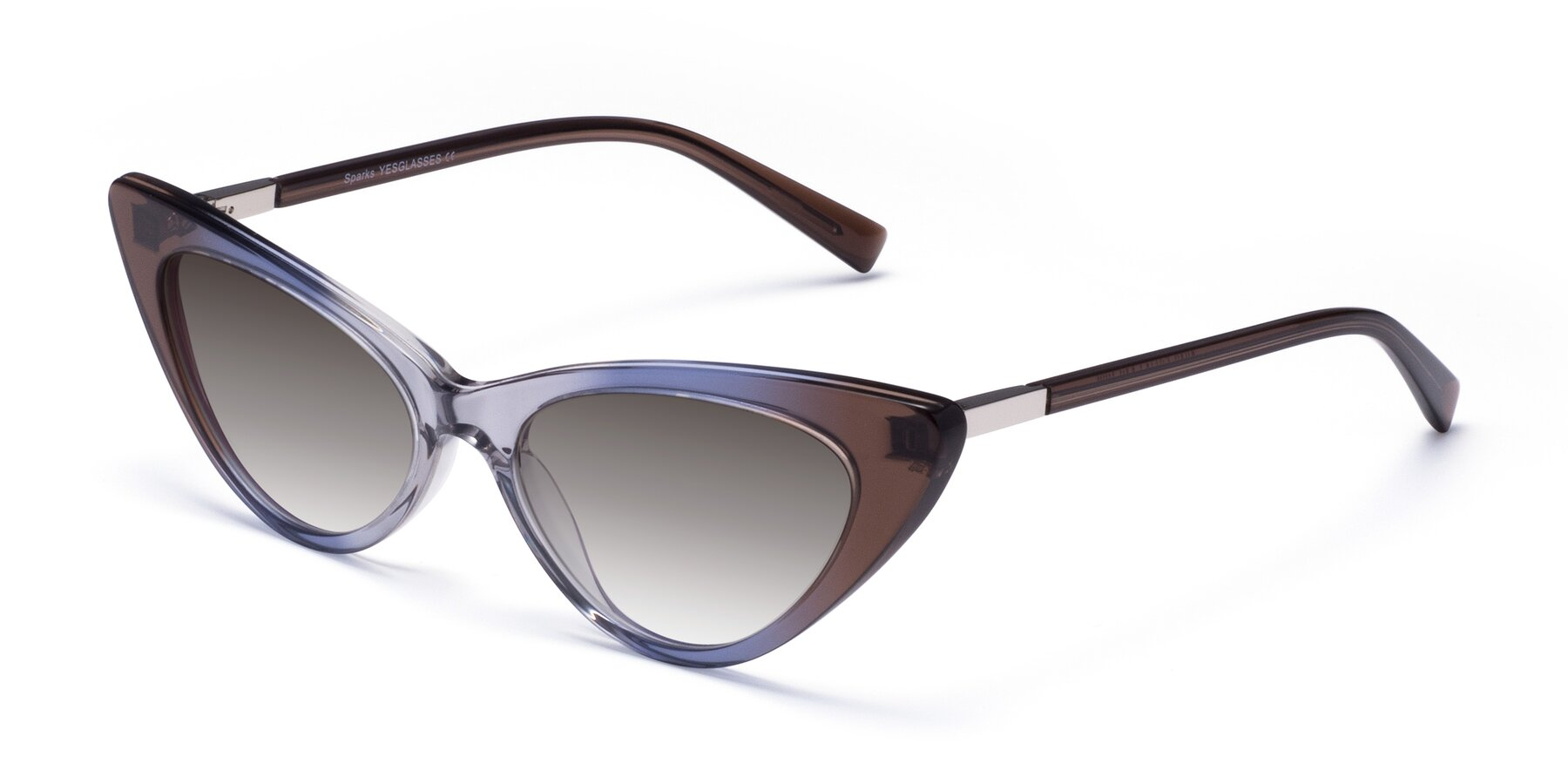 Angle of Sparks in Transparent Gradient Brown with Gray Gradient Lenses