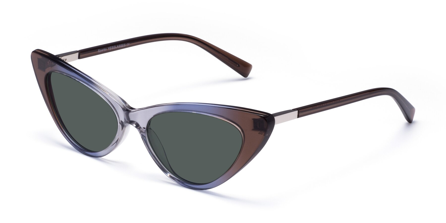 Angle of Sparks in Transparent Gradient Brown with Gray Polarized Lenses