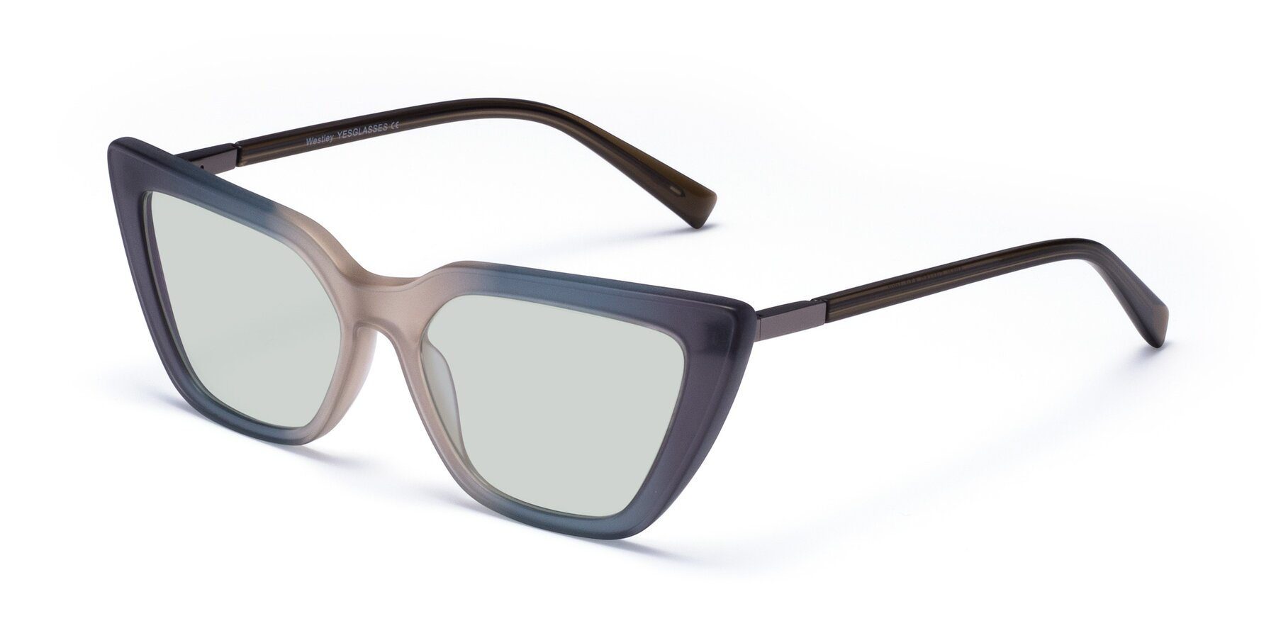 Angle of Westley in Gradient Grey with Light Green Tinted Lenses