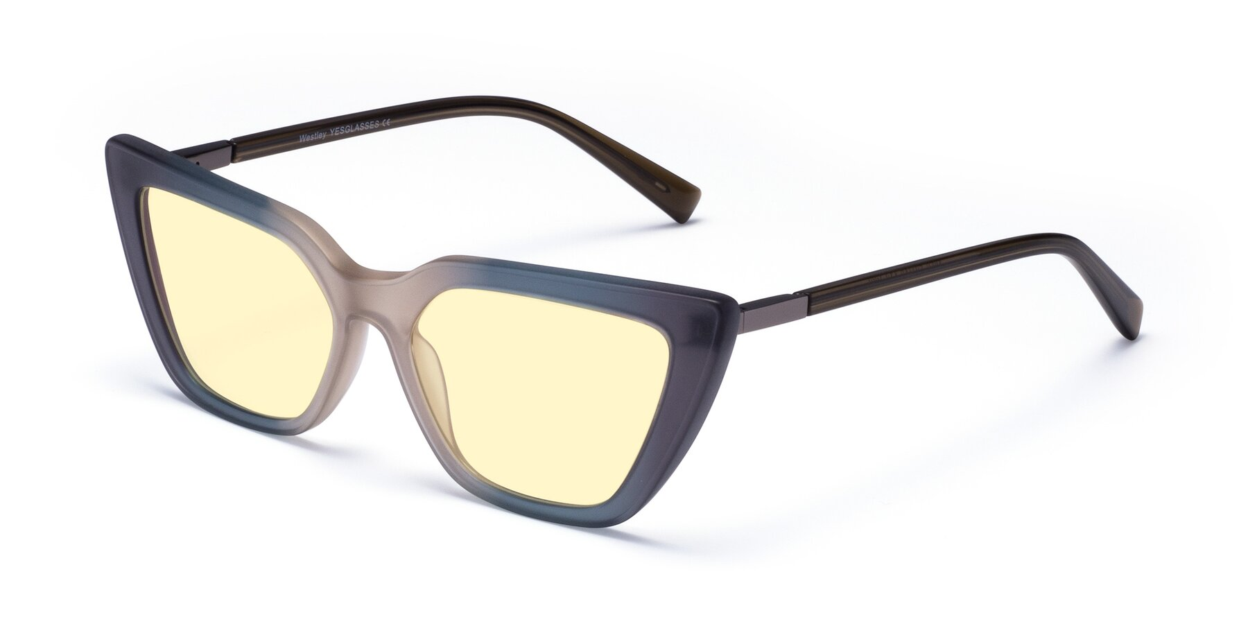 Angle of Westley in Gradient Grey with Light Yellow Tinted Lenses