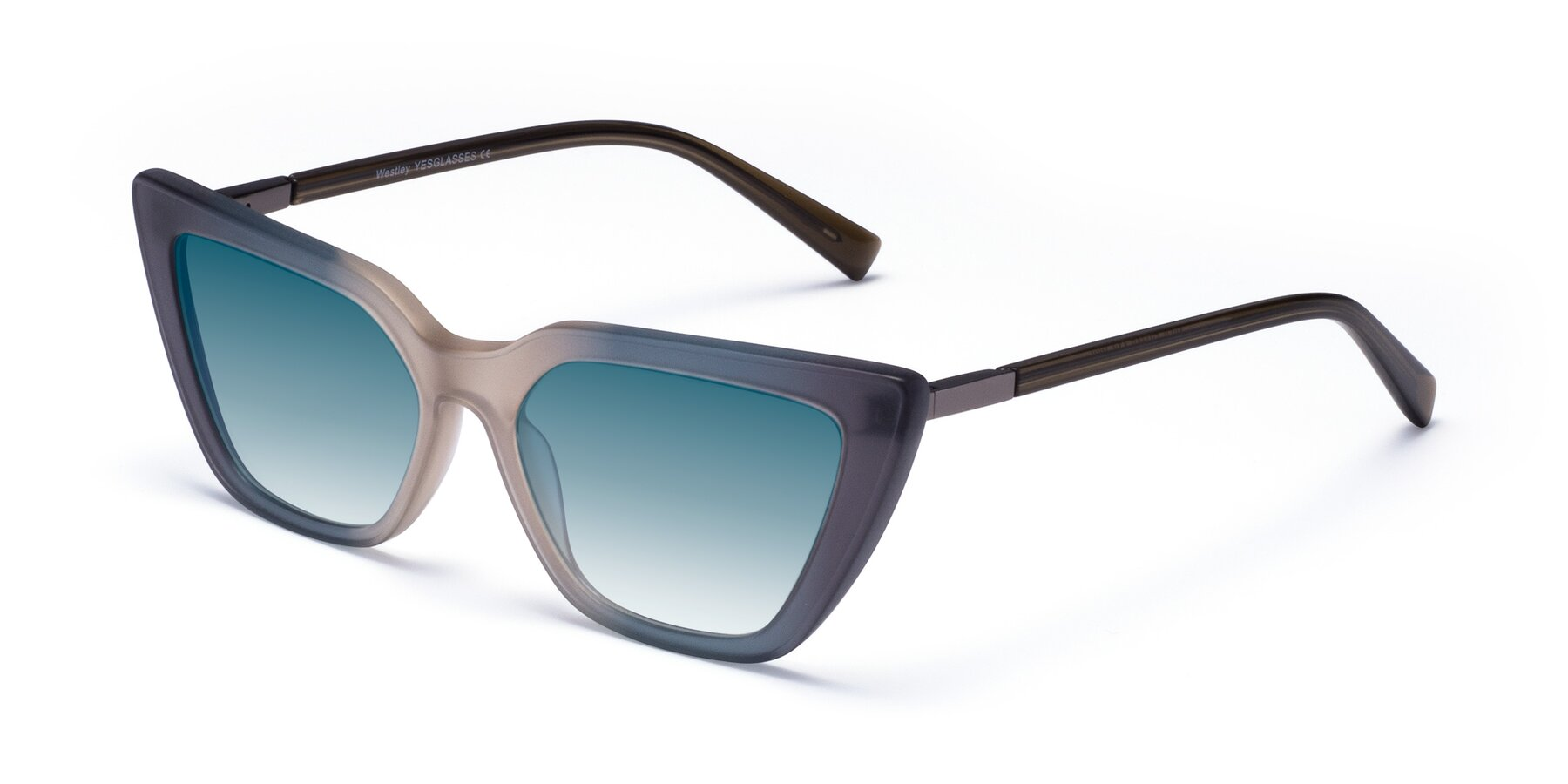 Angle of Westley in Gradient Grey with Blue Gradient Lenses
