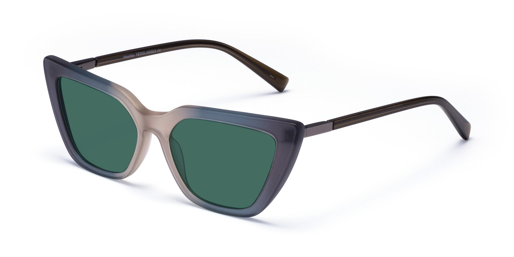 Angle of Westley in Gradient Grey with Green Polarized Lenses