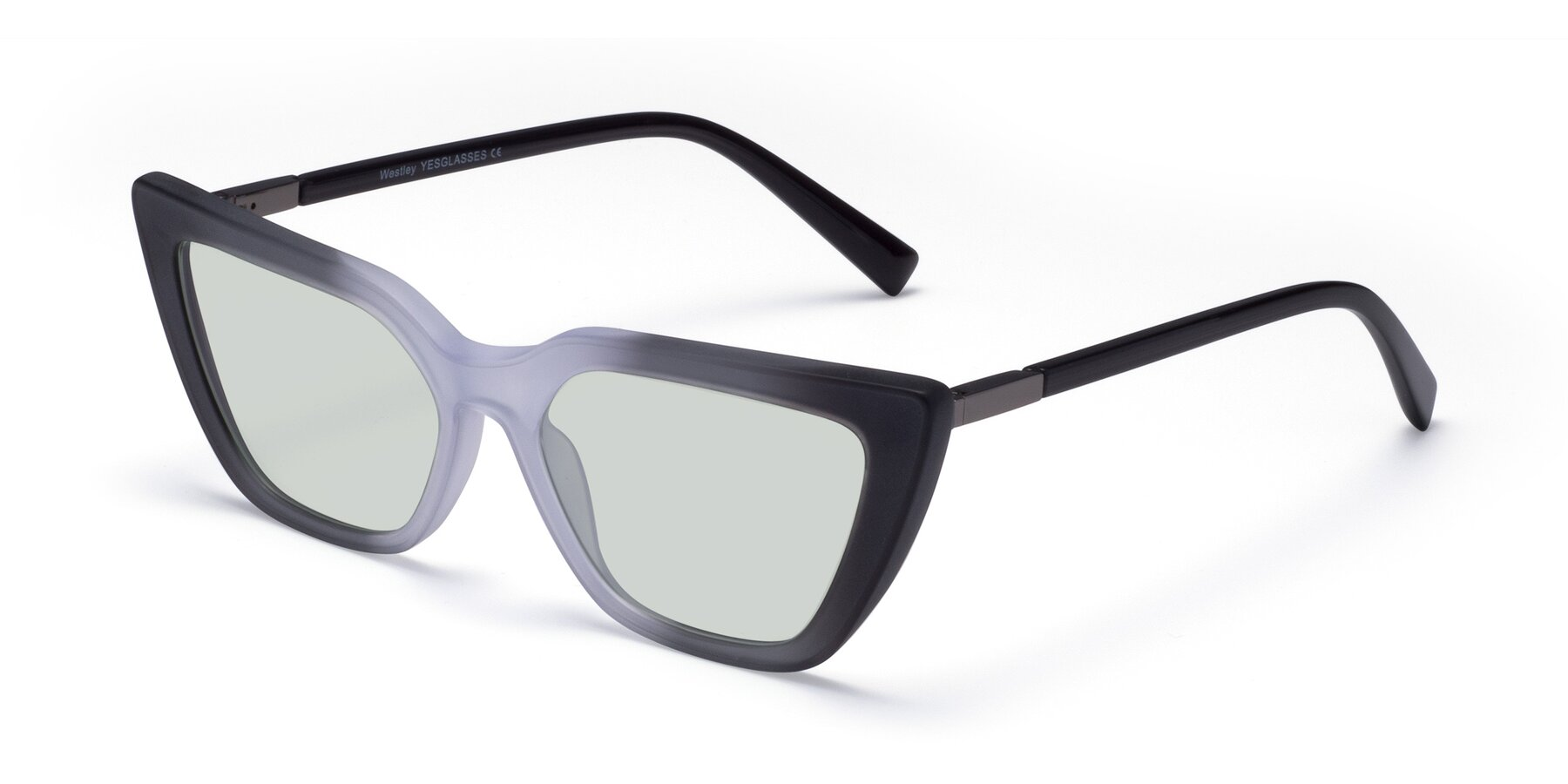 Angle of Westley in Gradient Black with Light Green Tinted Lenses