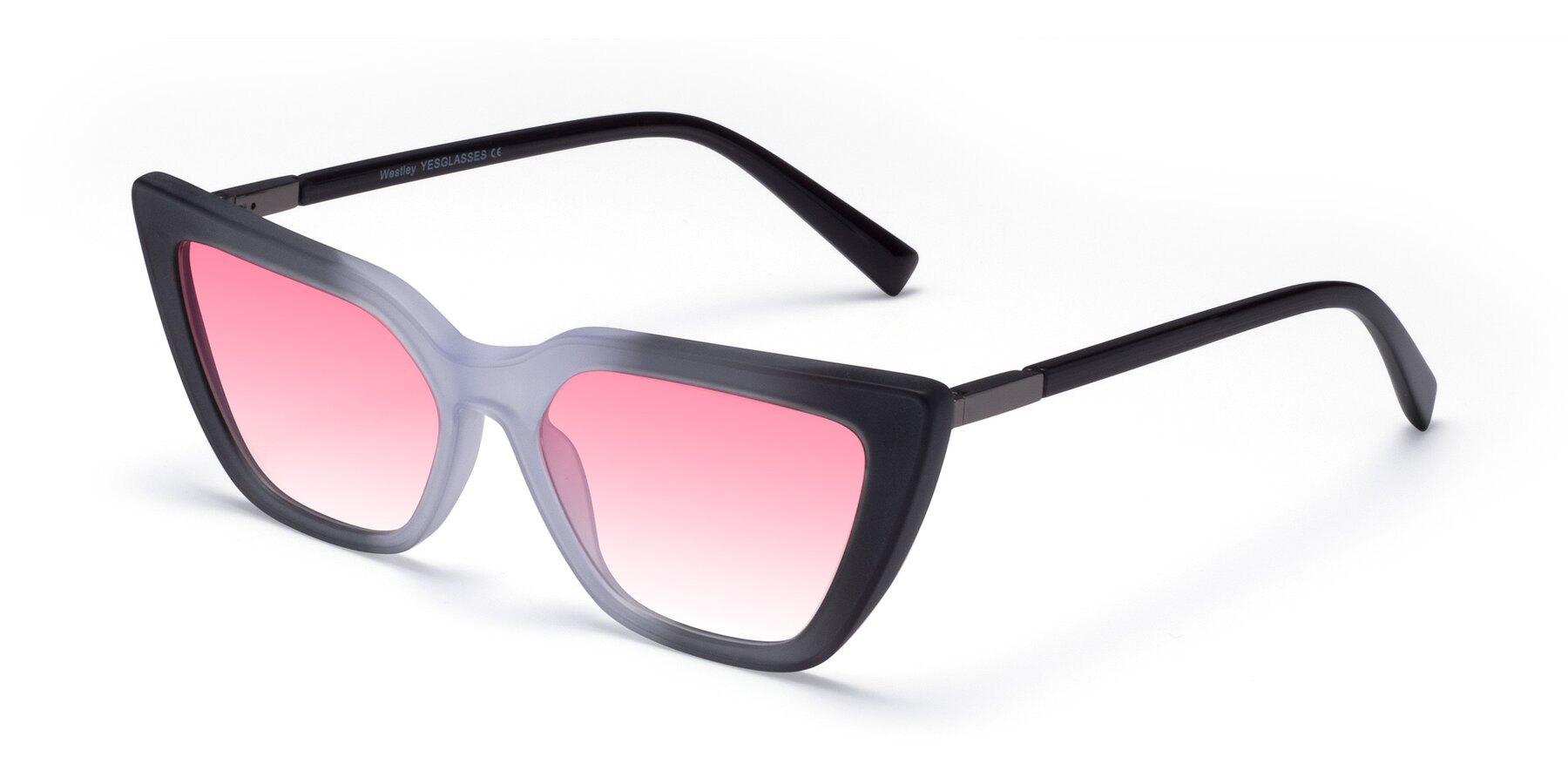 Angle of Westley in Gradient Black with Pink Gradient Lenses