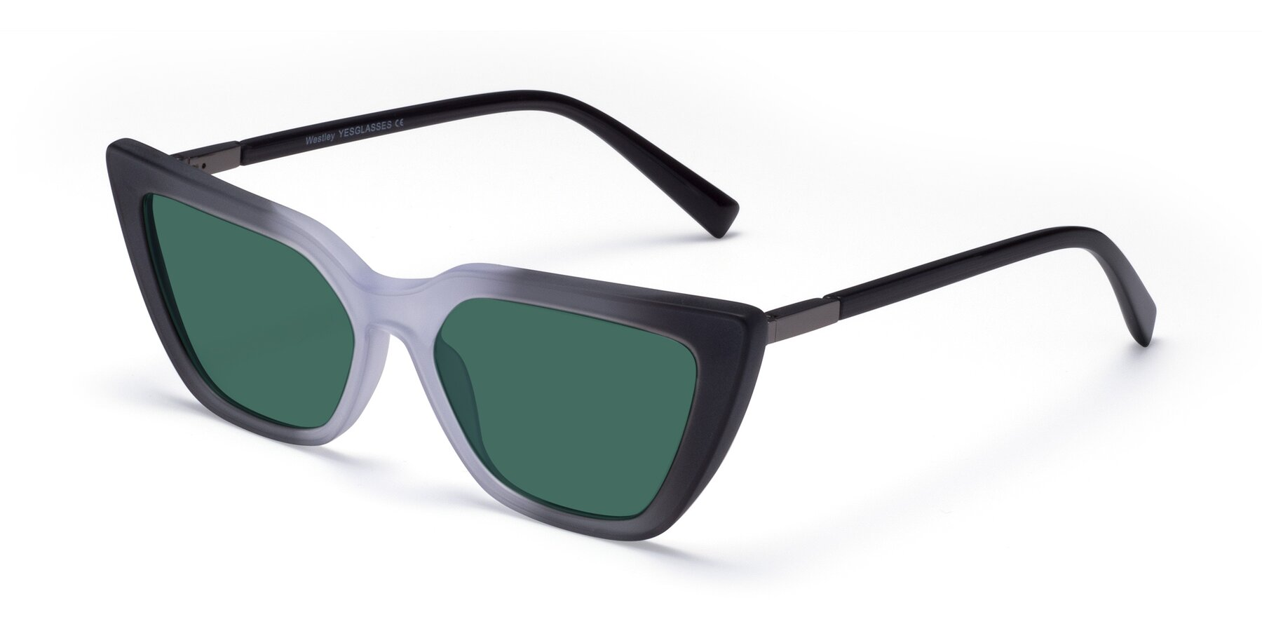 Angle of Westley in Gradient Black with Green Polarized Lenses