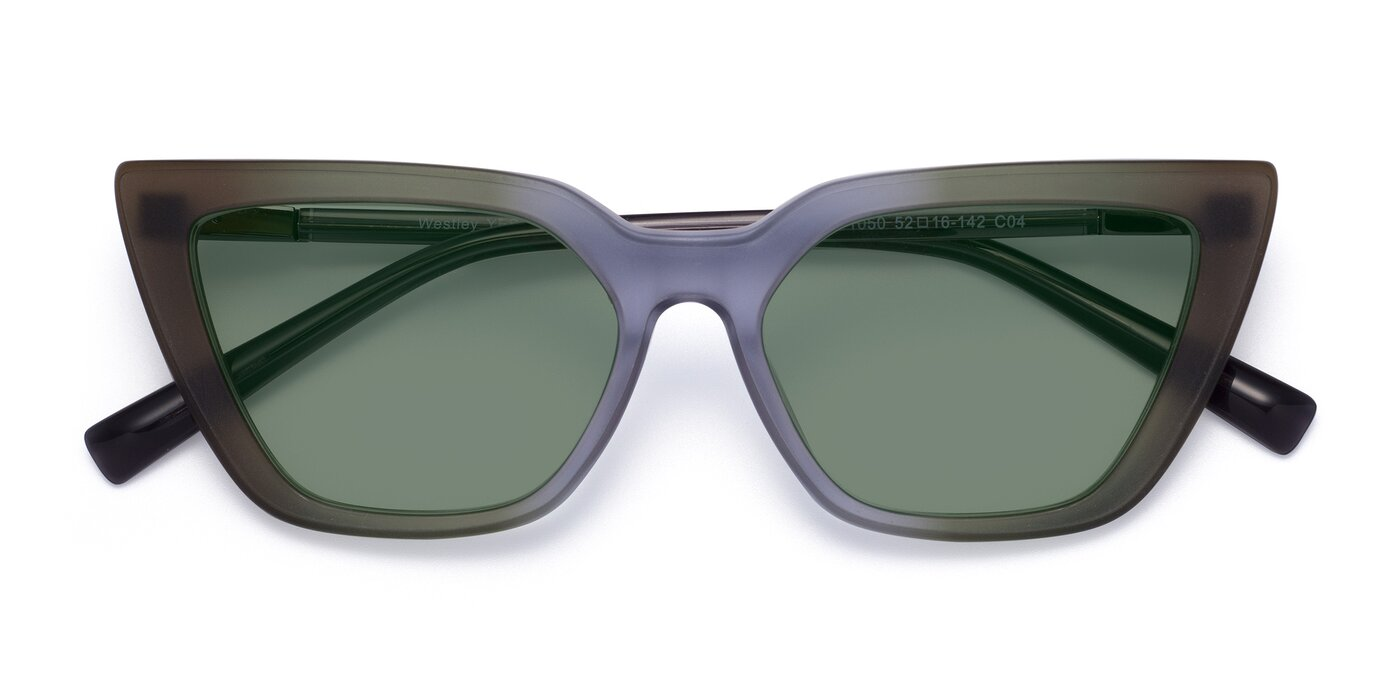 Westley - Gradient Green Tinted Sunglasses