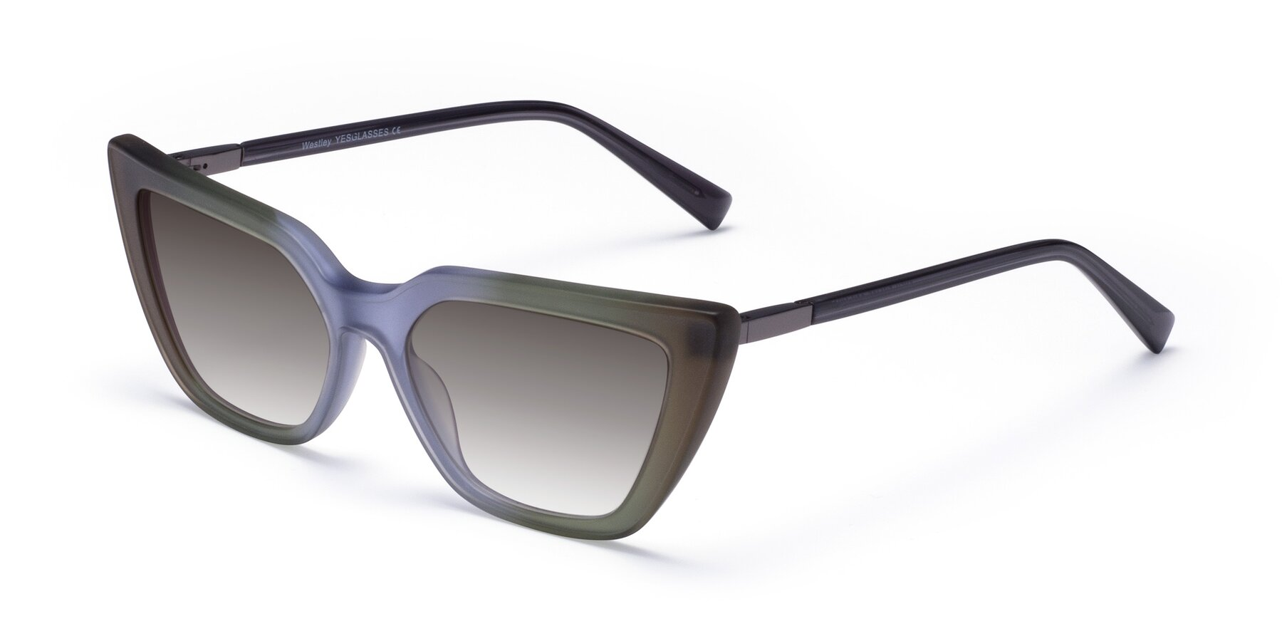 Angle of Westley in Gradient Green with Gray Gradient Lenses