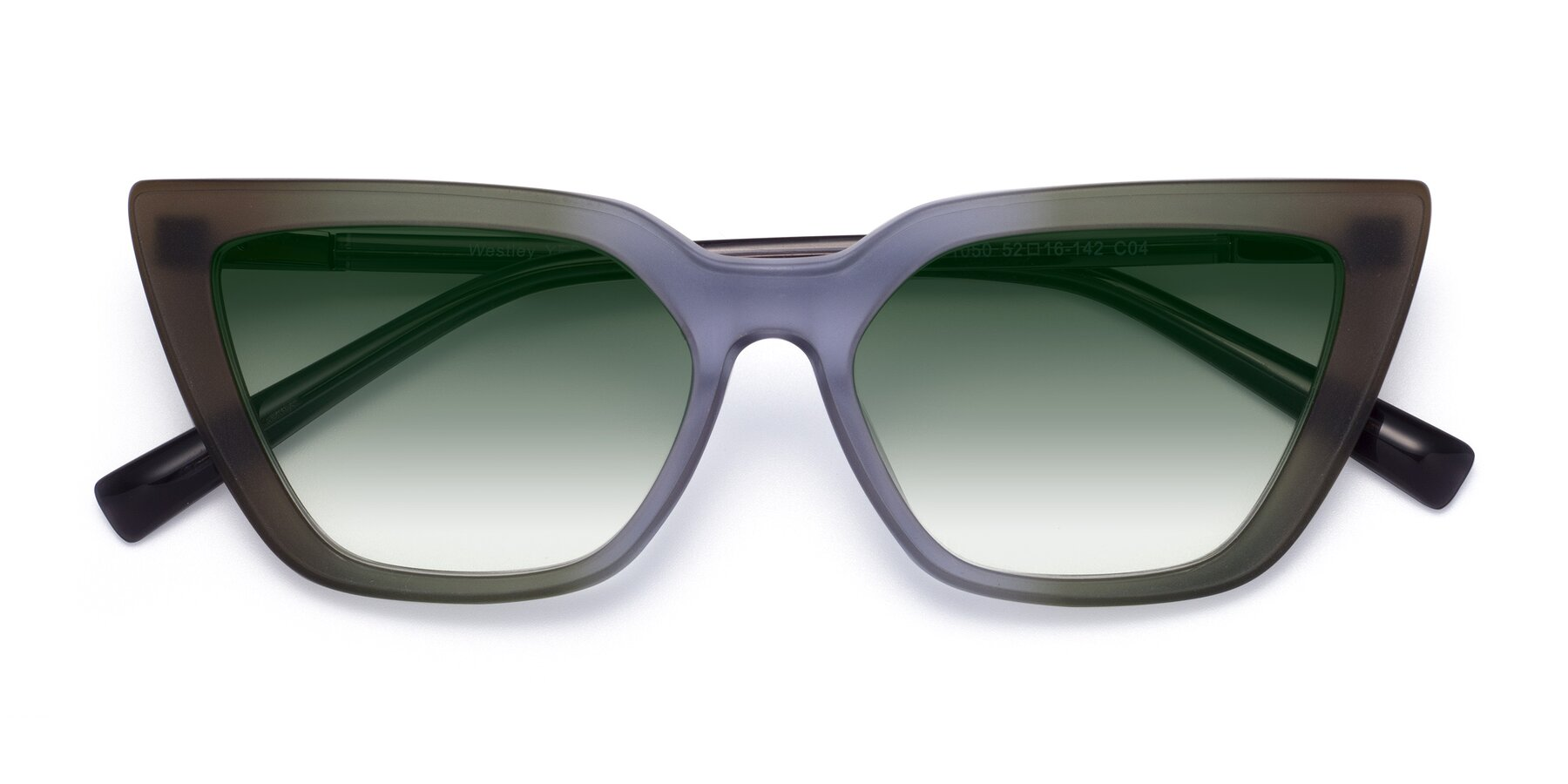 Folded Front of Westley in Gradient Green with Green Gradient Lenses