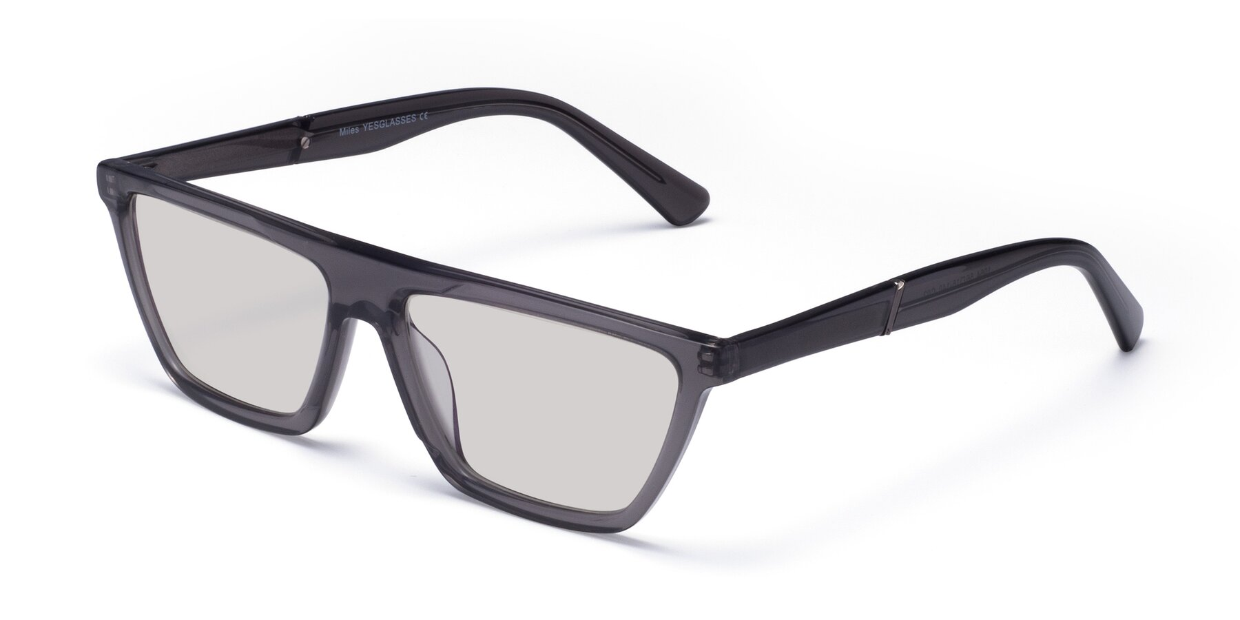 Angle of Miles in Translucent Gray with Light Gray Tinted Lenses