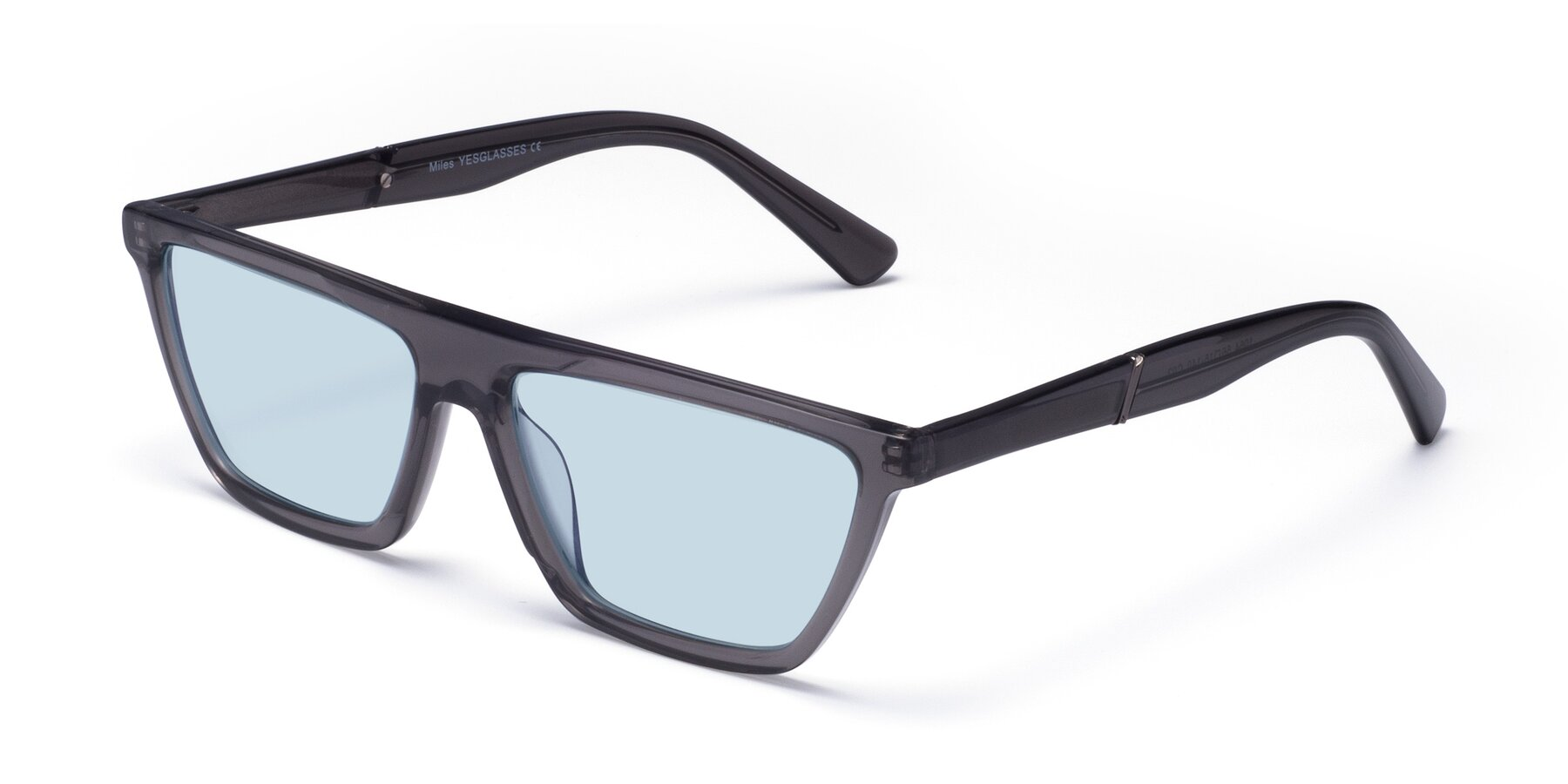 Angle of Miles in Translucent Gray with Light Blue Tinted Lenses