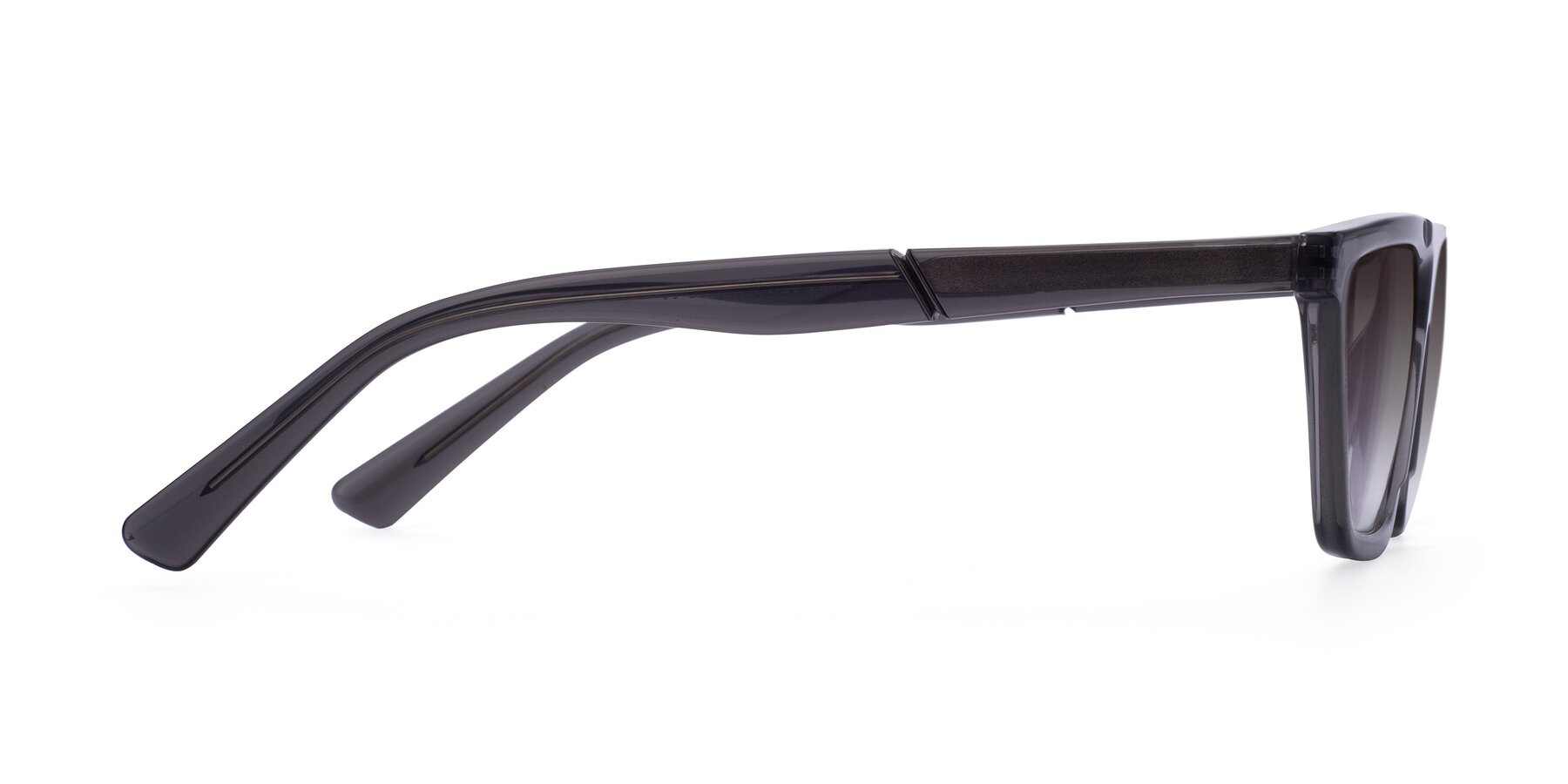 Side of Miles in Translucent Gray with Gray Gradient Lenses