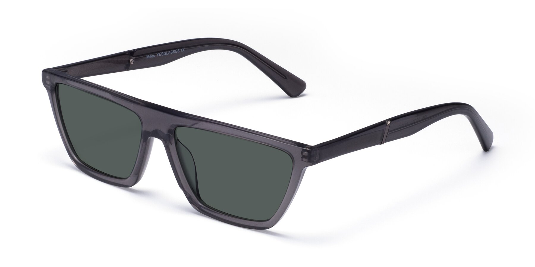 Angle of Miles in Translucent Gray with Gray Polarized Lenses