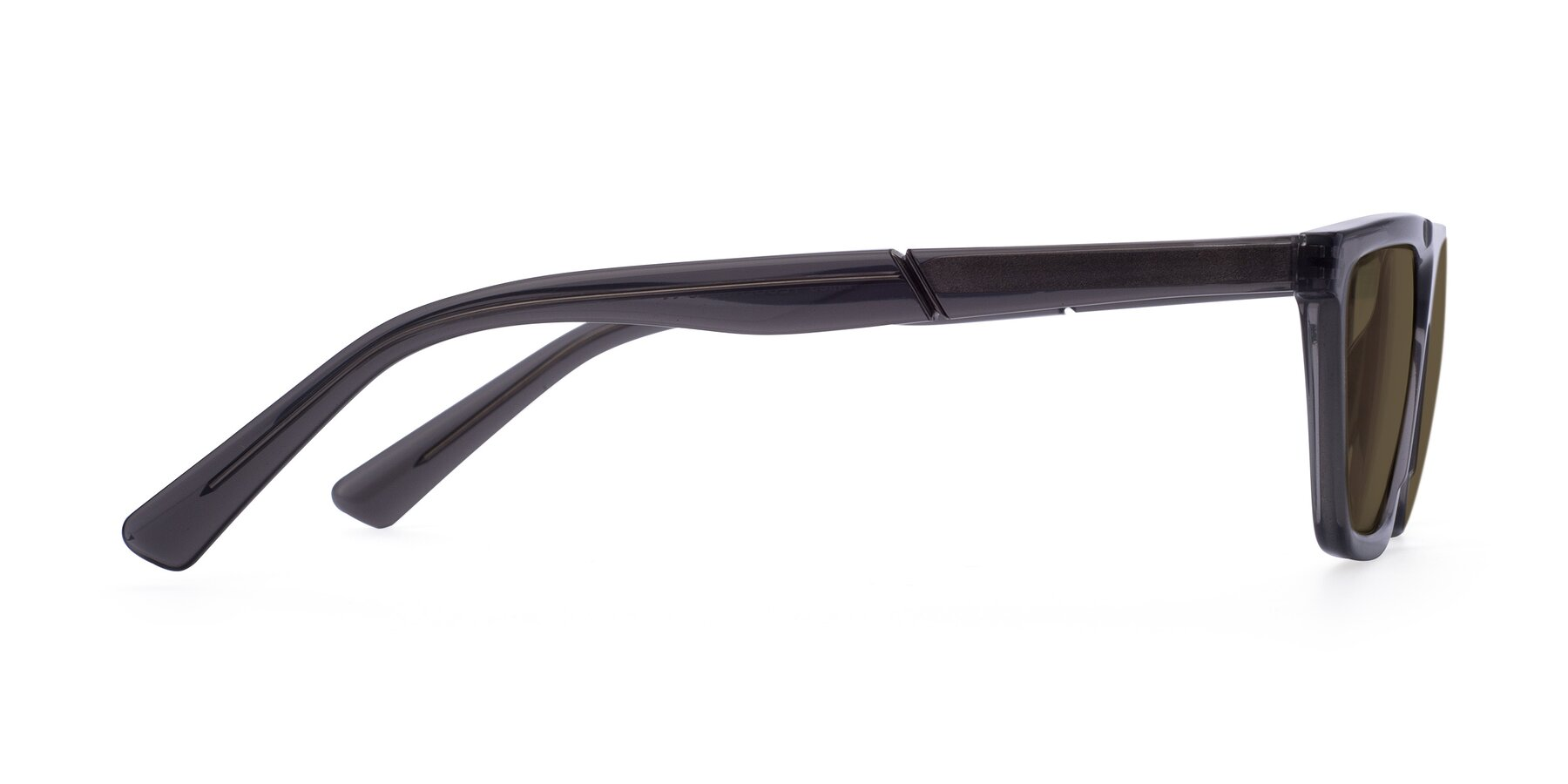 Side of Miles in Translucent Gray with Brown Polarized Lenses