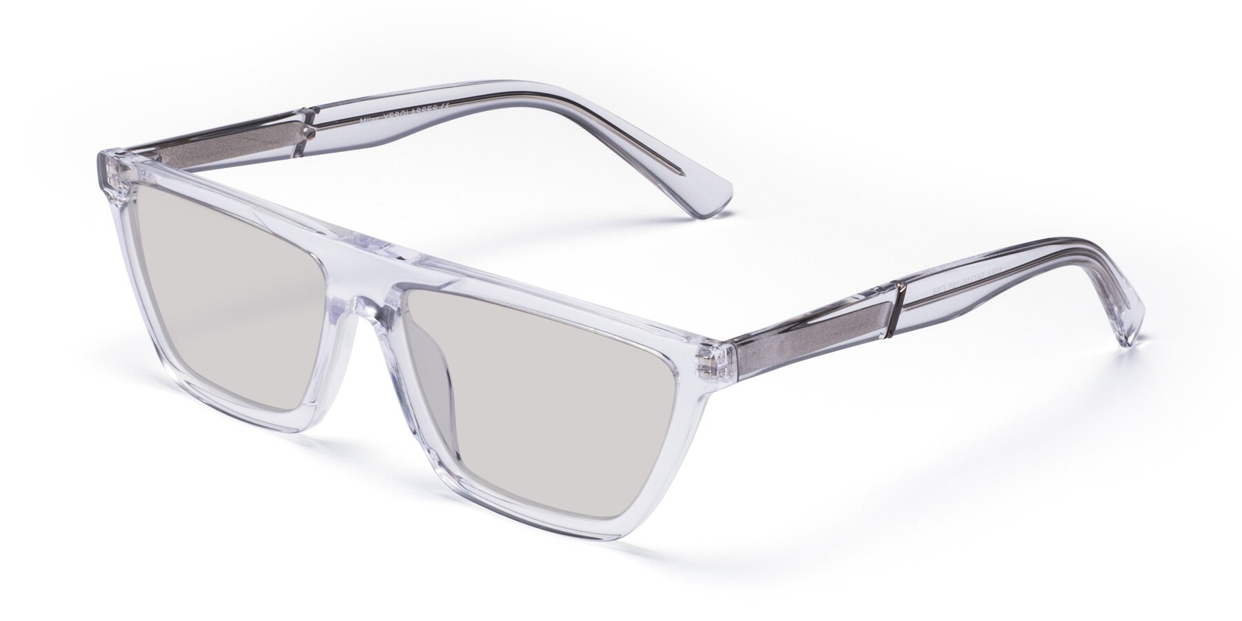 Angle of Miles in Clear with Light Gray Tinted Lenses