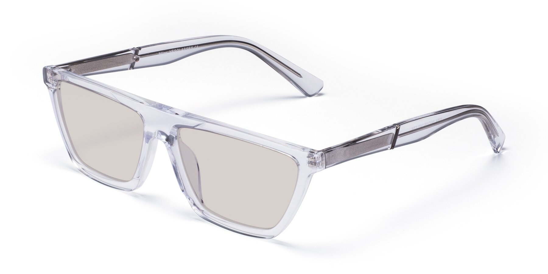 Angle of Miles in Clear with Light Brown Tinted Lenses
