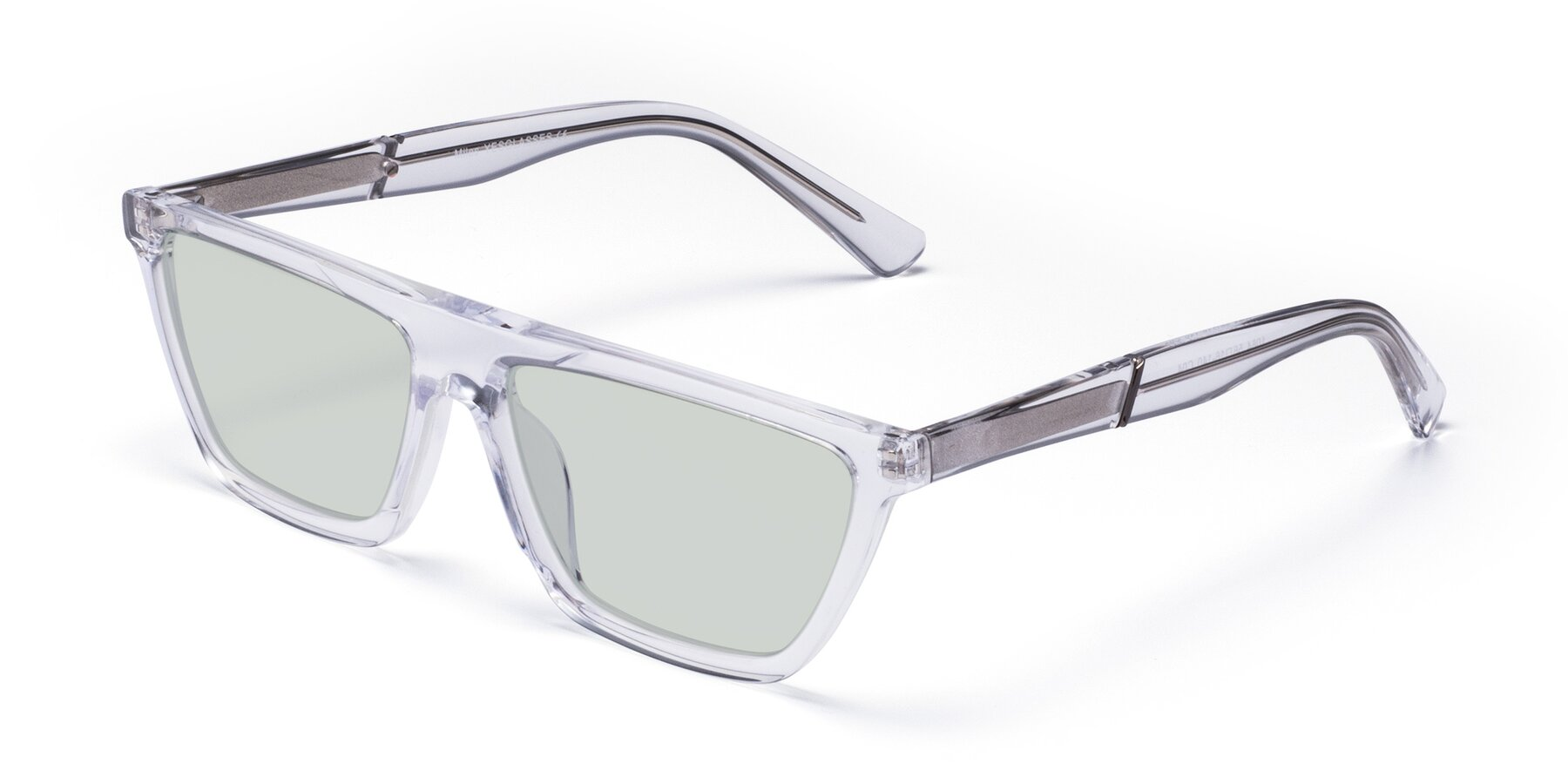 Angle of Miles in Clear with Light Green Tinted Lenses