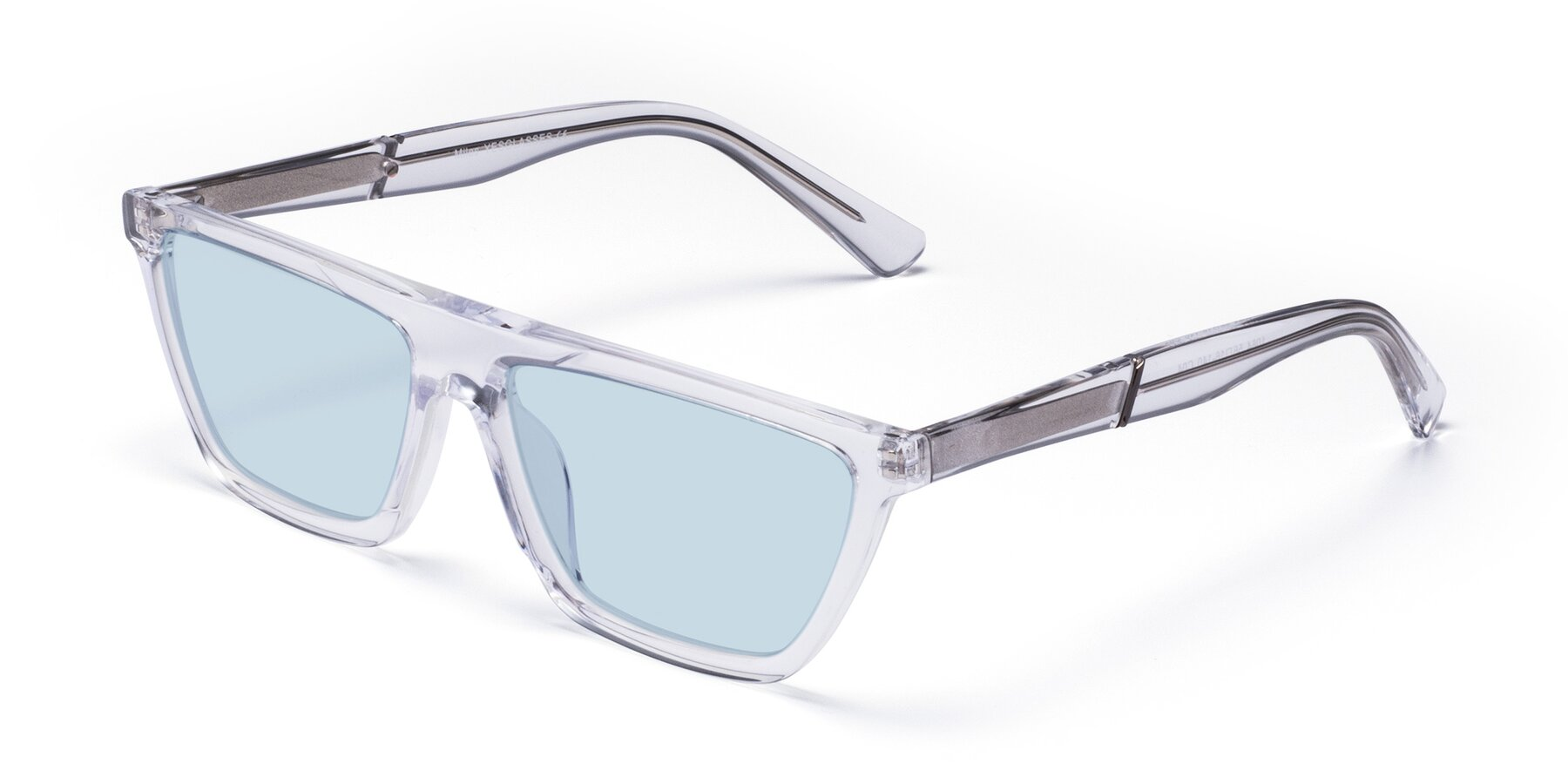 Angle of Miles in Clear with Light Blue Tinted Lenses