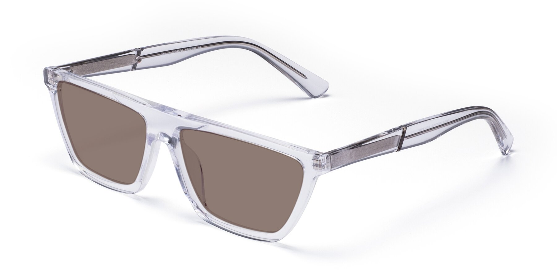 Angle of Miles in Clear with Medium Brown Tinted Lenses