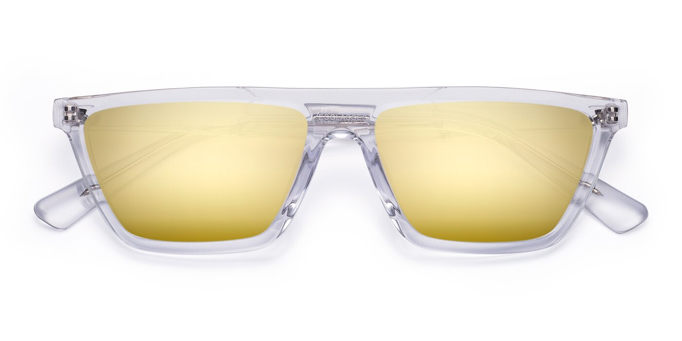 Miles - Clear Flash Mirrored Sunglasses
