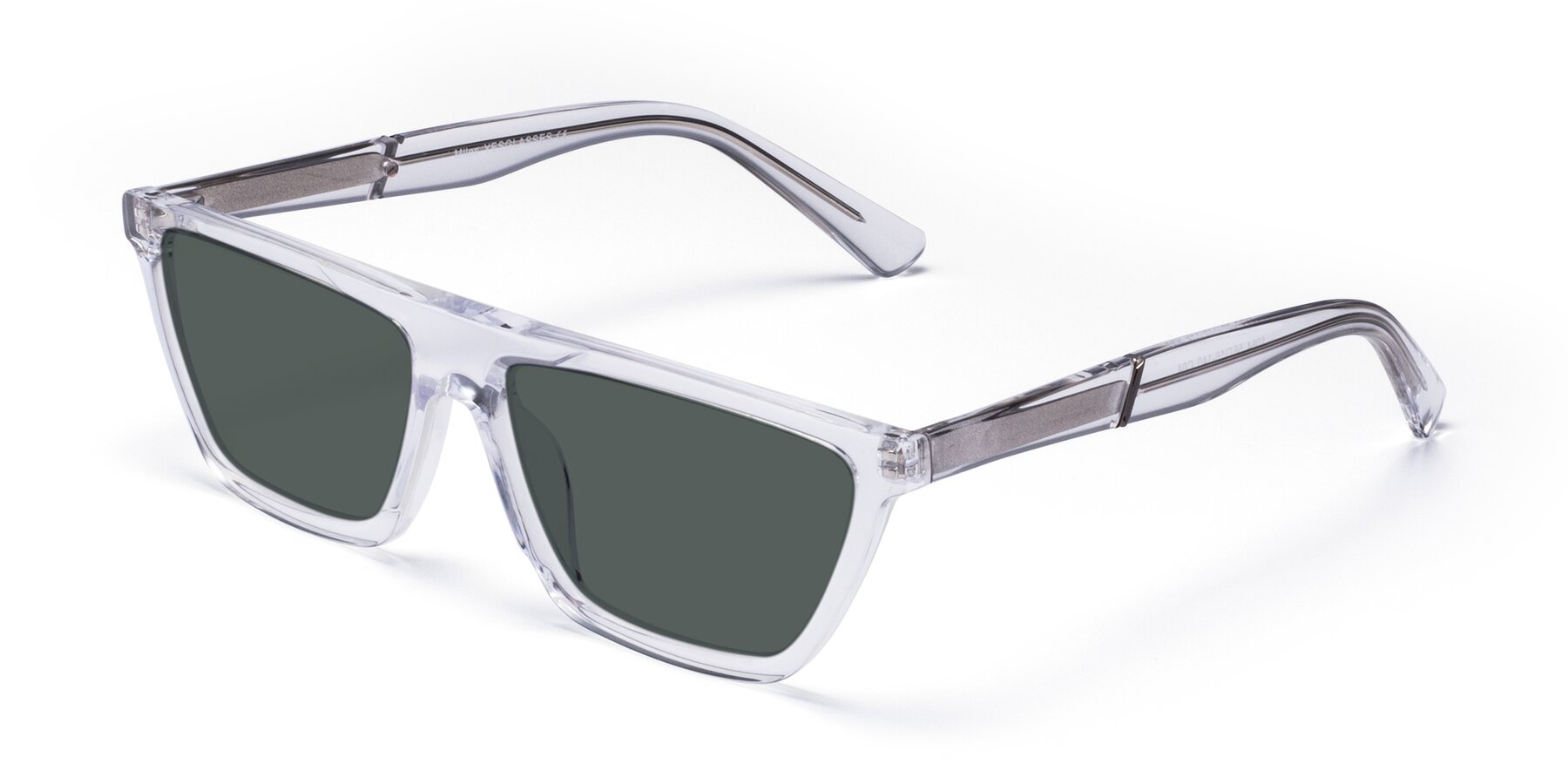 Angle of Miles in Clear with Gray Polarized Lenses