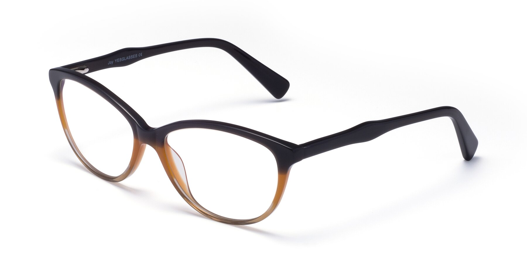 Angle of Joy in Floral Gray-Brown with Clear Blue Light Blocking Lenses