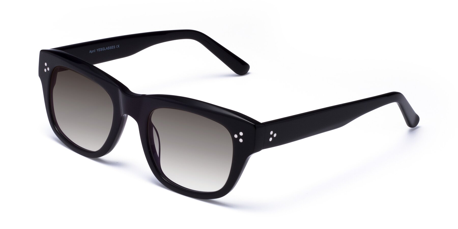 Angle of April in Black with Gray Gradient Lenses
