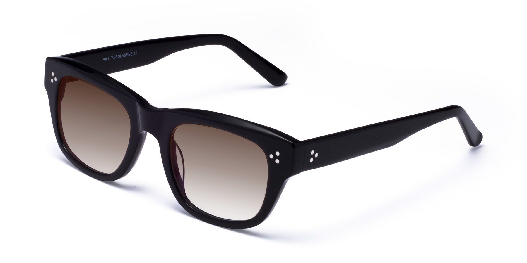 Angle of April in Black with Brown Gradient Lenses