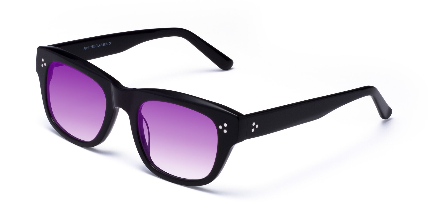 Angle of April in Black with Purple Gradient Lenses