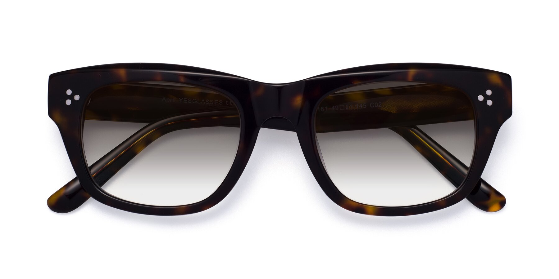 Folded Front of April in Tortoise with Gray Gradient Lenses
