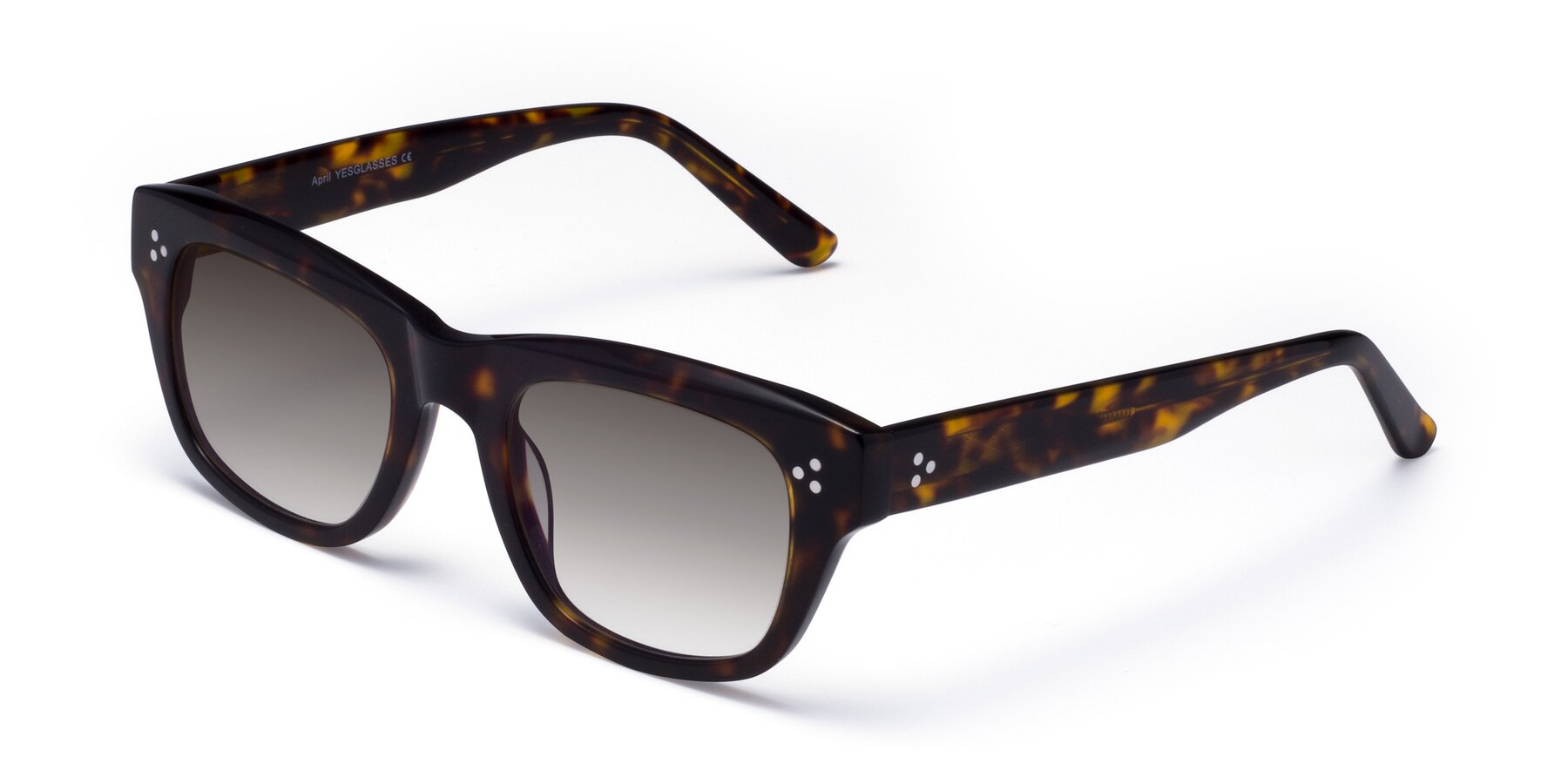Angle of April in Tortoise with Gray Gradient Lenses
