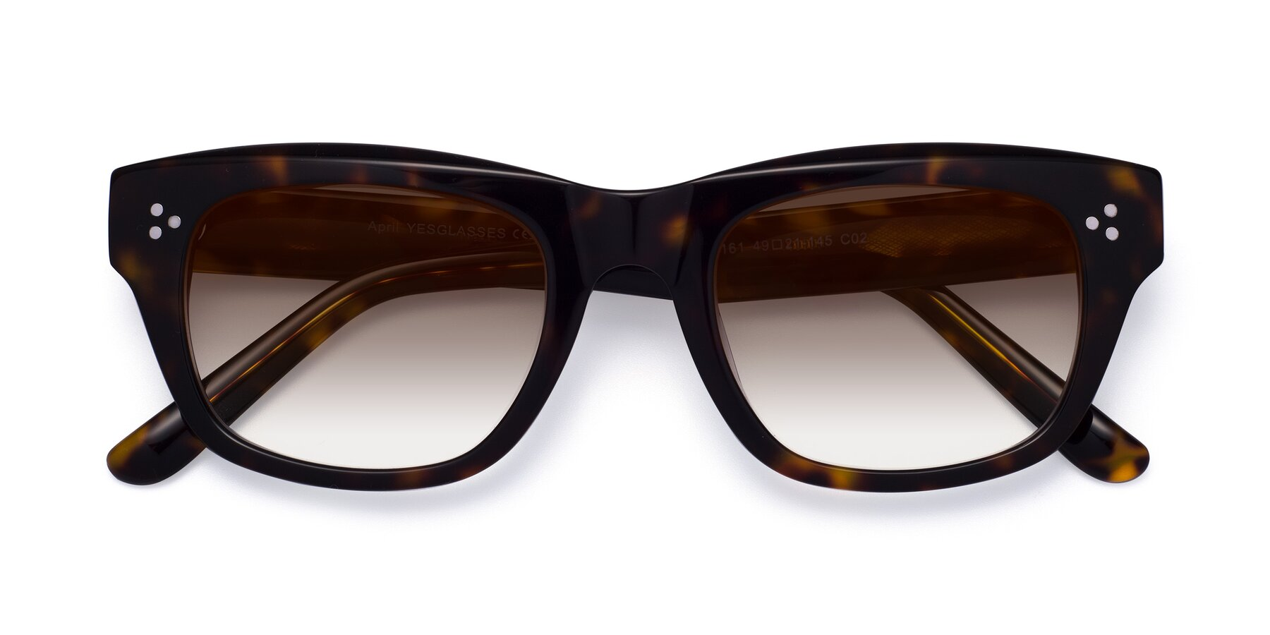 Folded Front of April in Tortoise with Brown Gradient Lenses