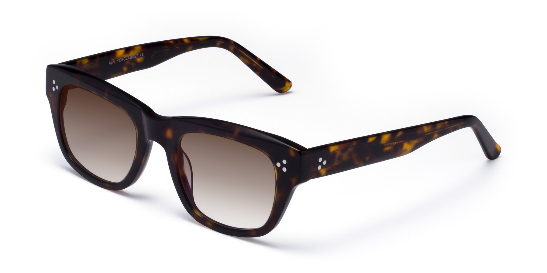 Angle of April in Tortoise with Brown Gradient Lenses