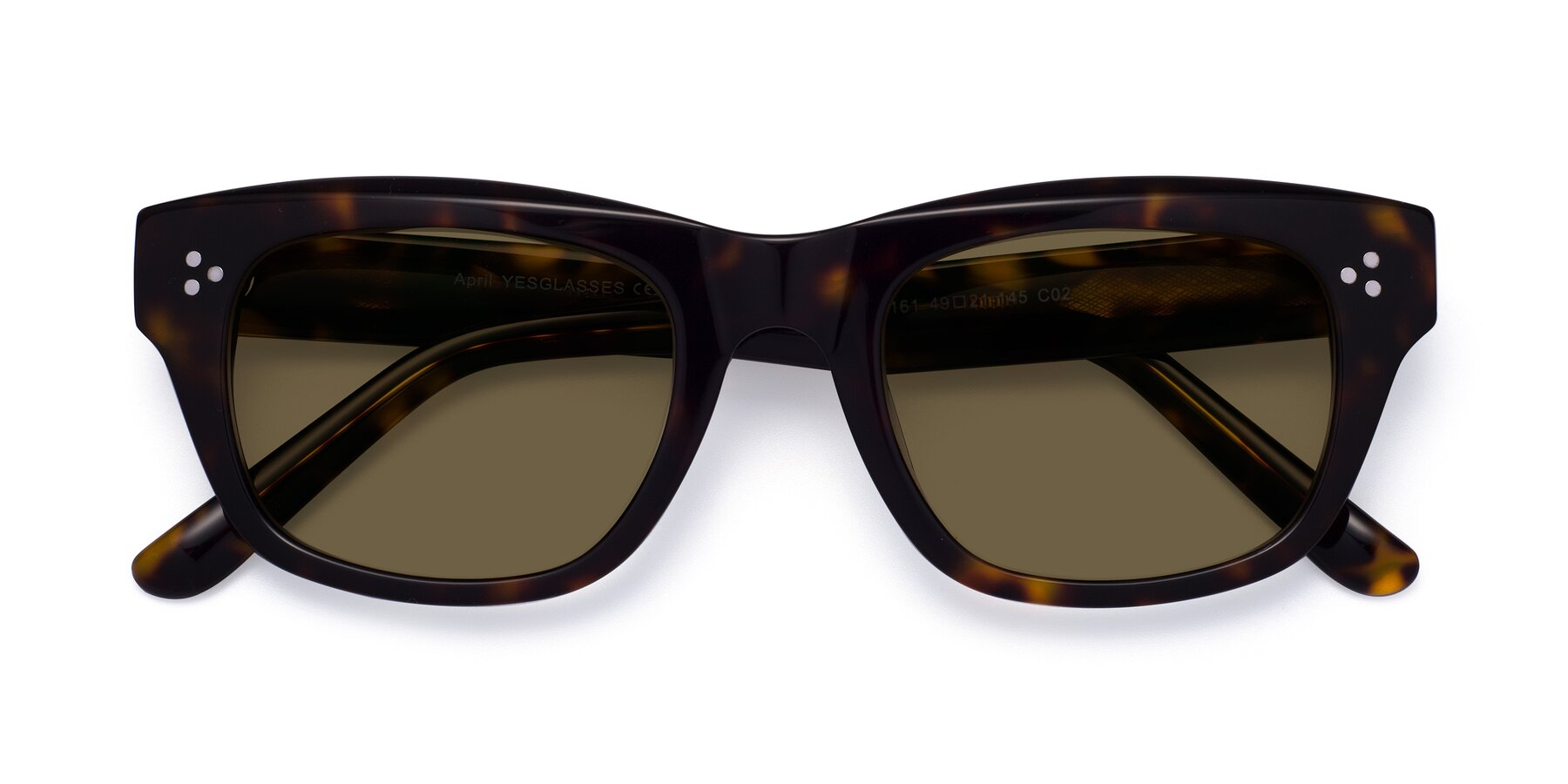 Folded Front of April in Tortoise with Brown Polarized Lenses